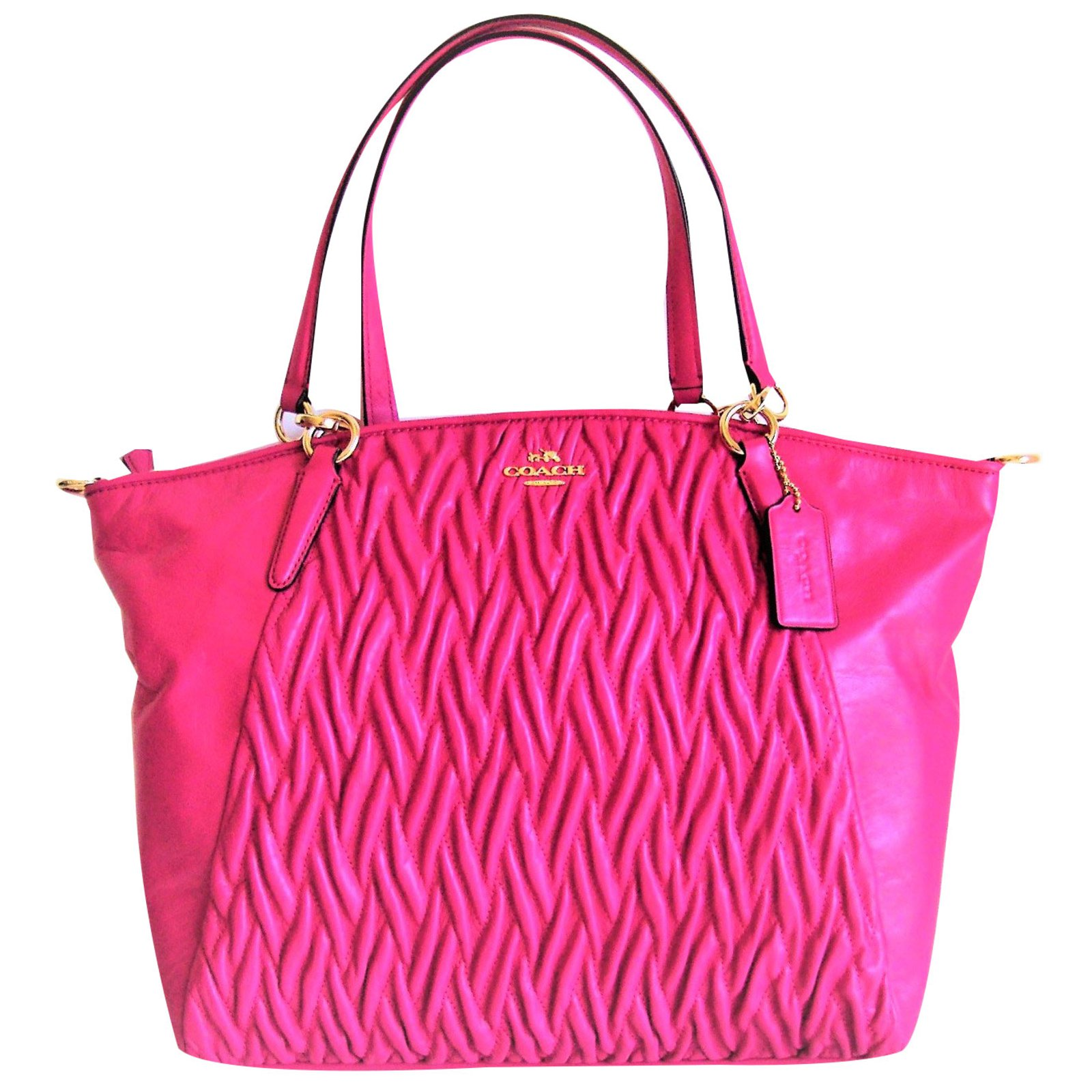 7bc417c341fa Coach Coach - twisted kelsey bag Handbags Leather Pink ref.52158 ...