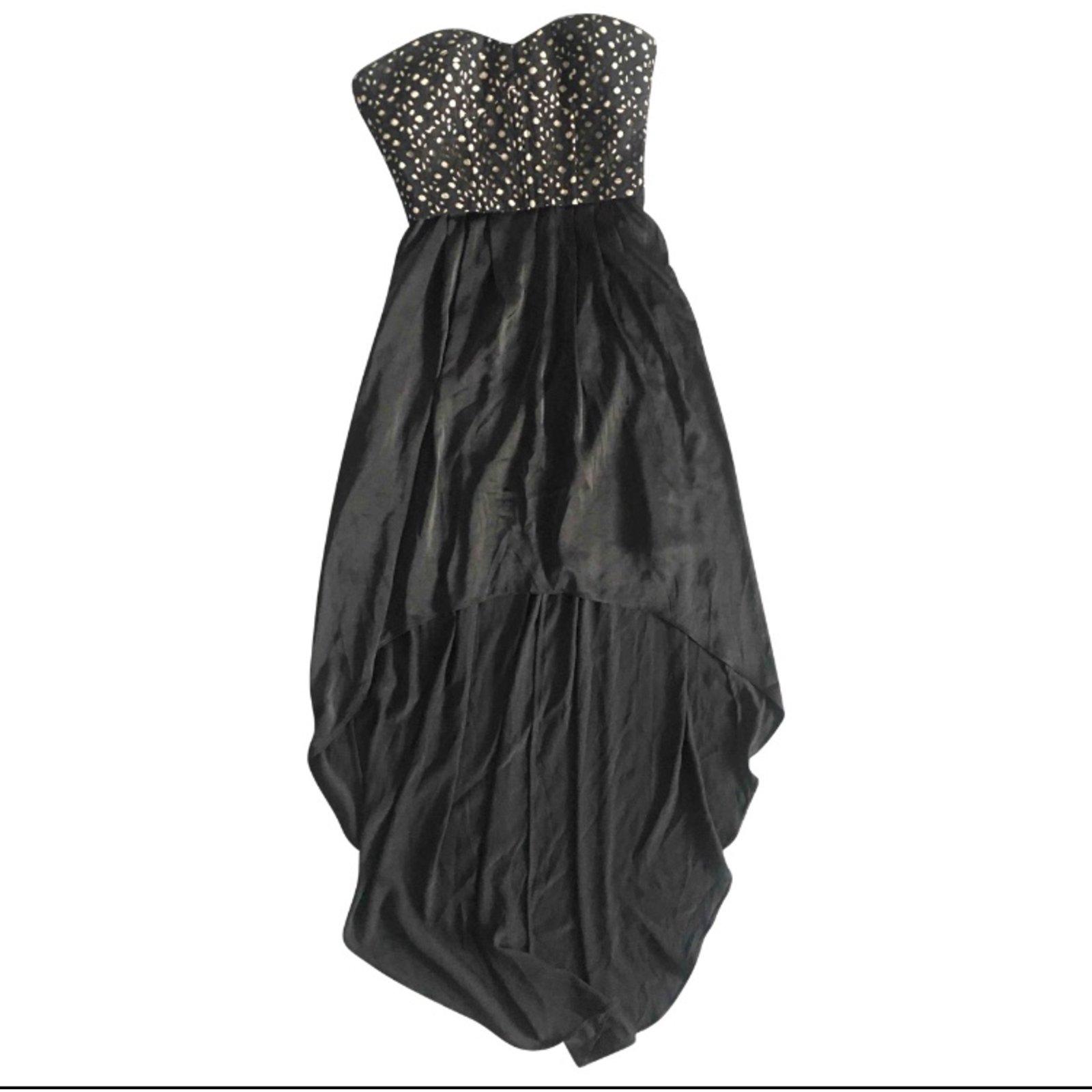 Bcbg Max Azria Strapless Black Dress with a Train Dresses Silk Black ...