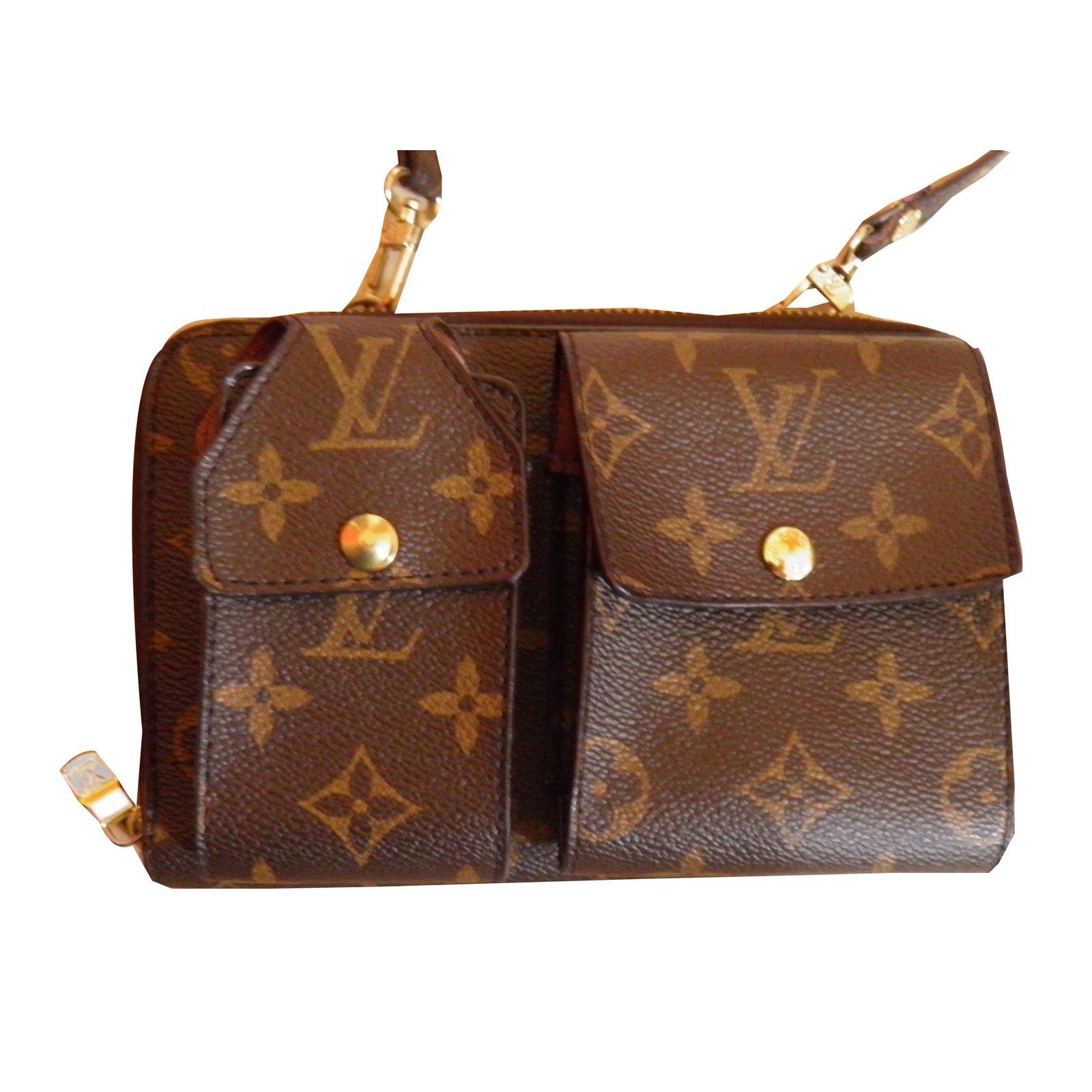 c32274dcc523 Louis Vuitton wallet on chain Wallets Cloth Brown ref.52236 - Joli Closet