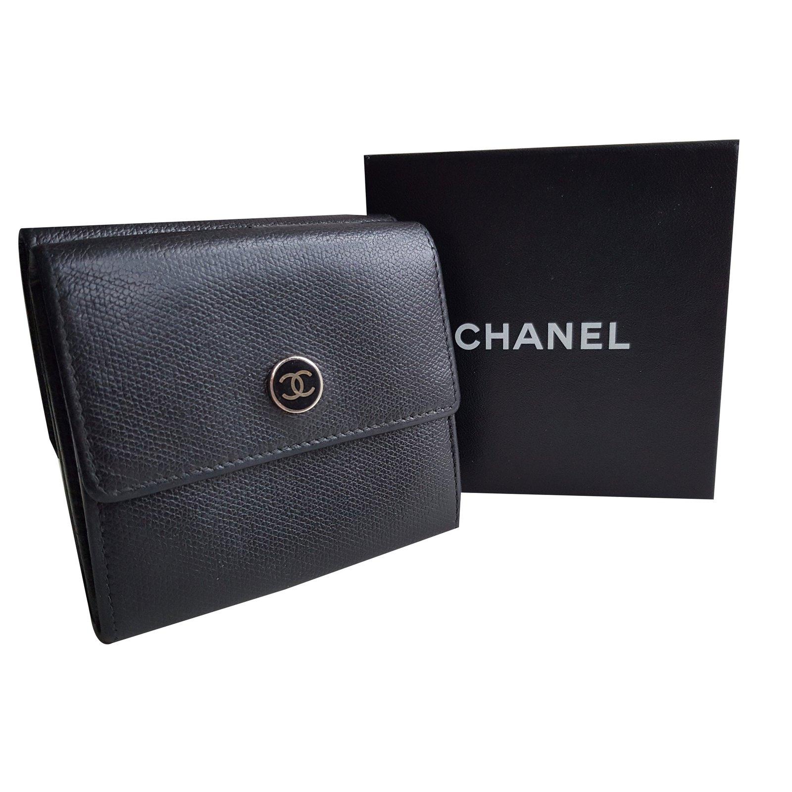 38fd60d0791 Portefeuilles Chanel Portefeuilles Cuir Noir ref.52450 - Joli Closet