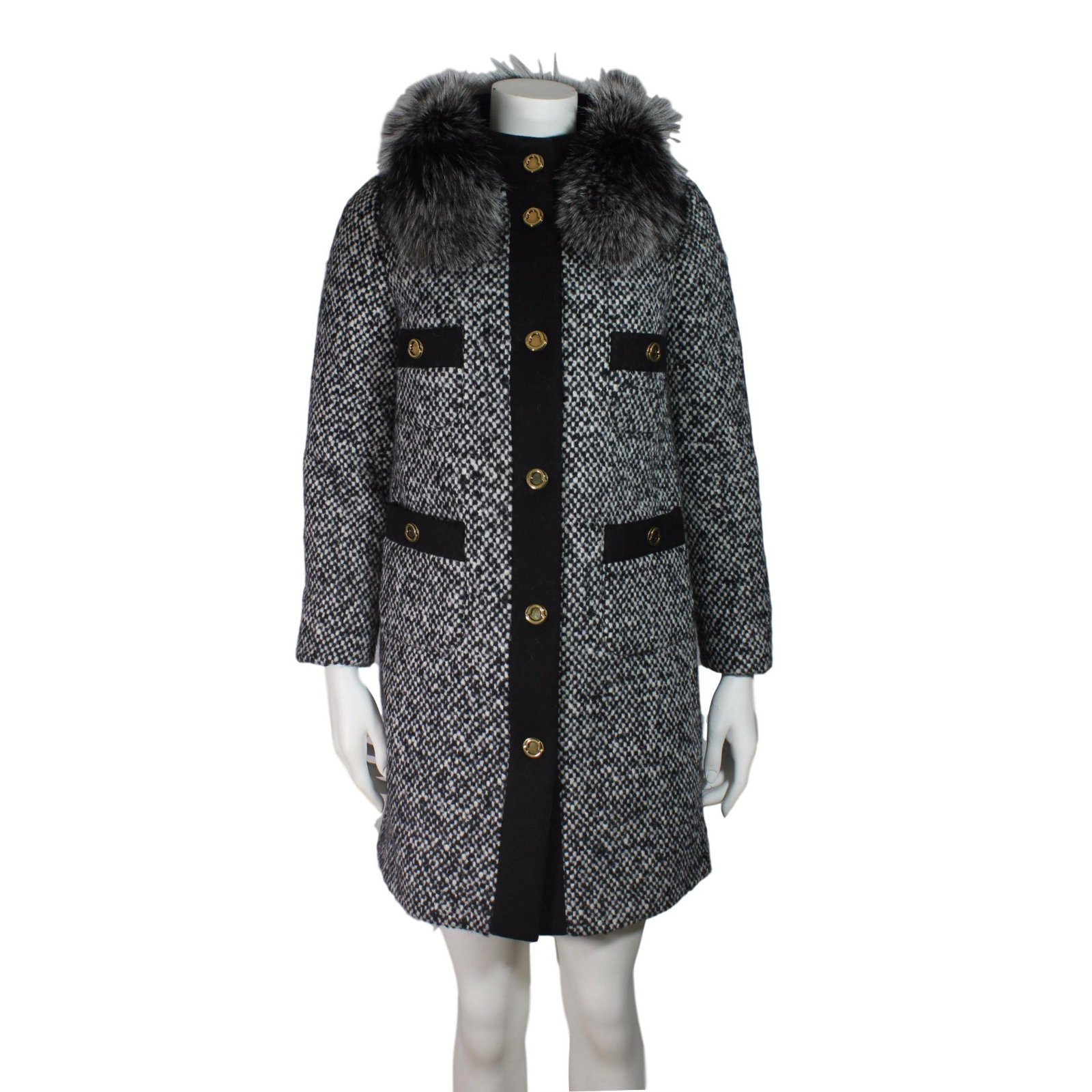 Moncler Moncler Loth tweed coat Coats, Outerwear Polyester,Wool Other ref.52585