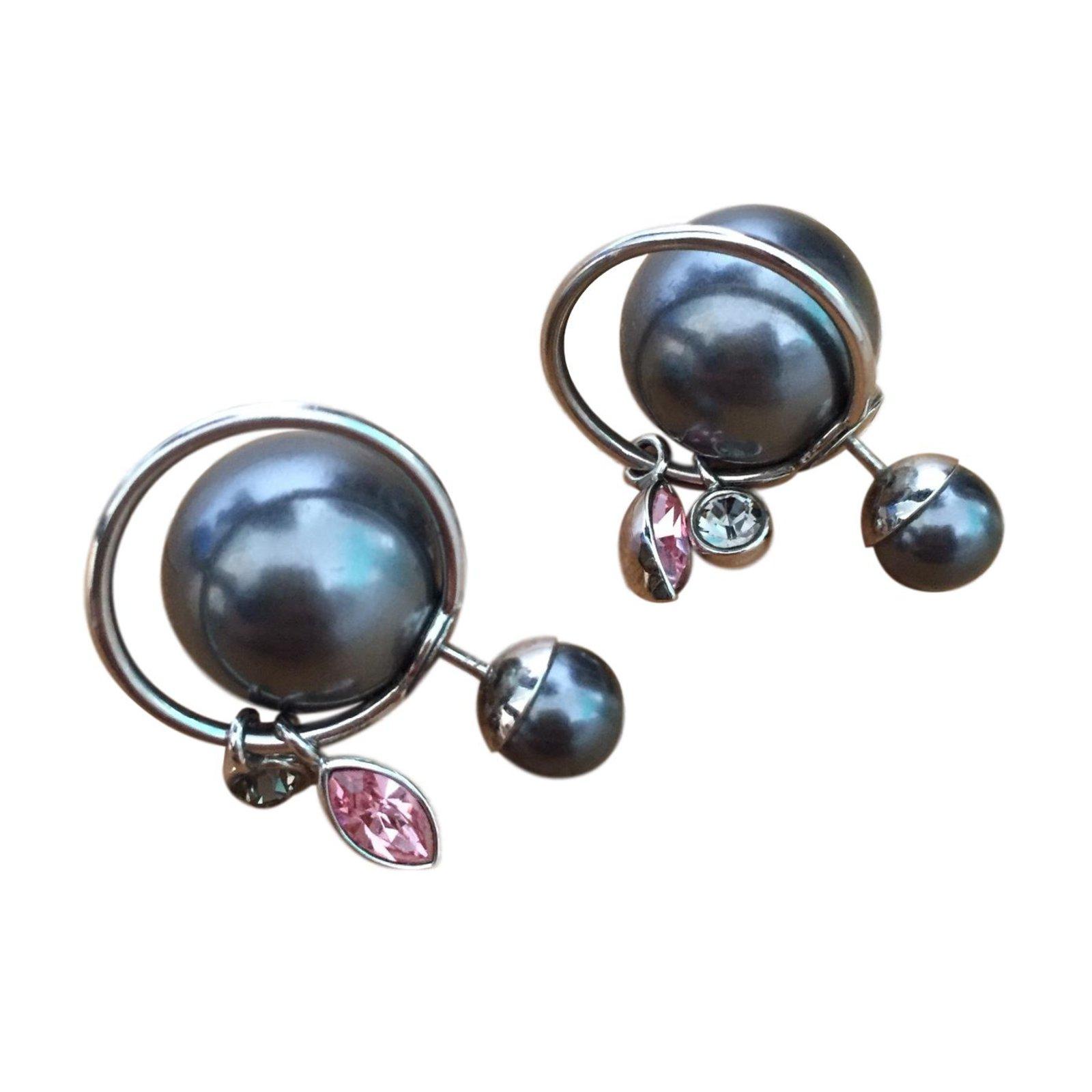 Boucles D Oreilles Dior Dior Tribal Autre Gris Anthracite Ref 52773