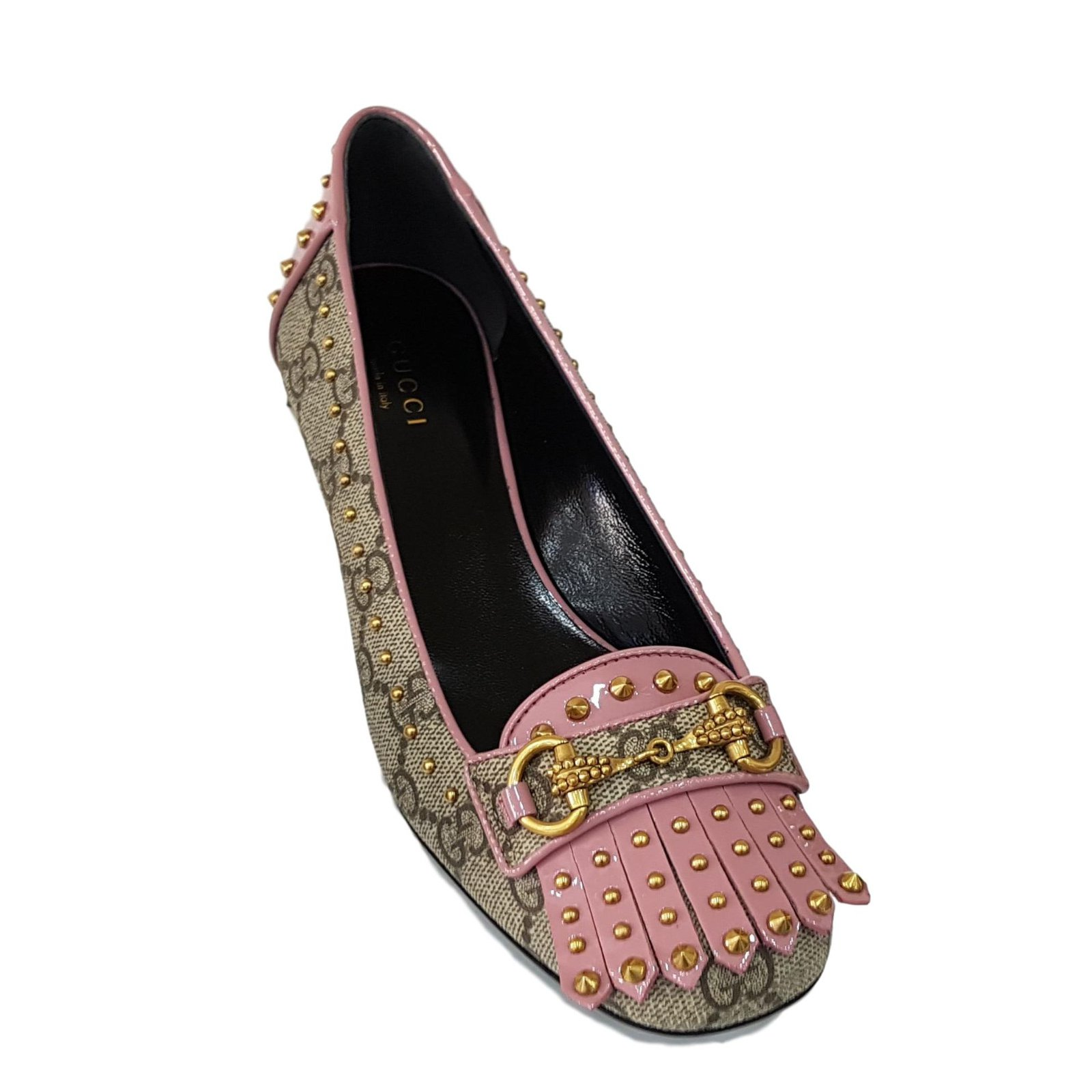 gucci gucci shoes new ballet flats other pink beige ref 52813 joli