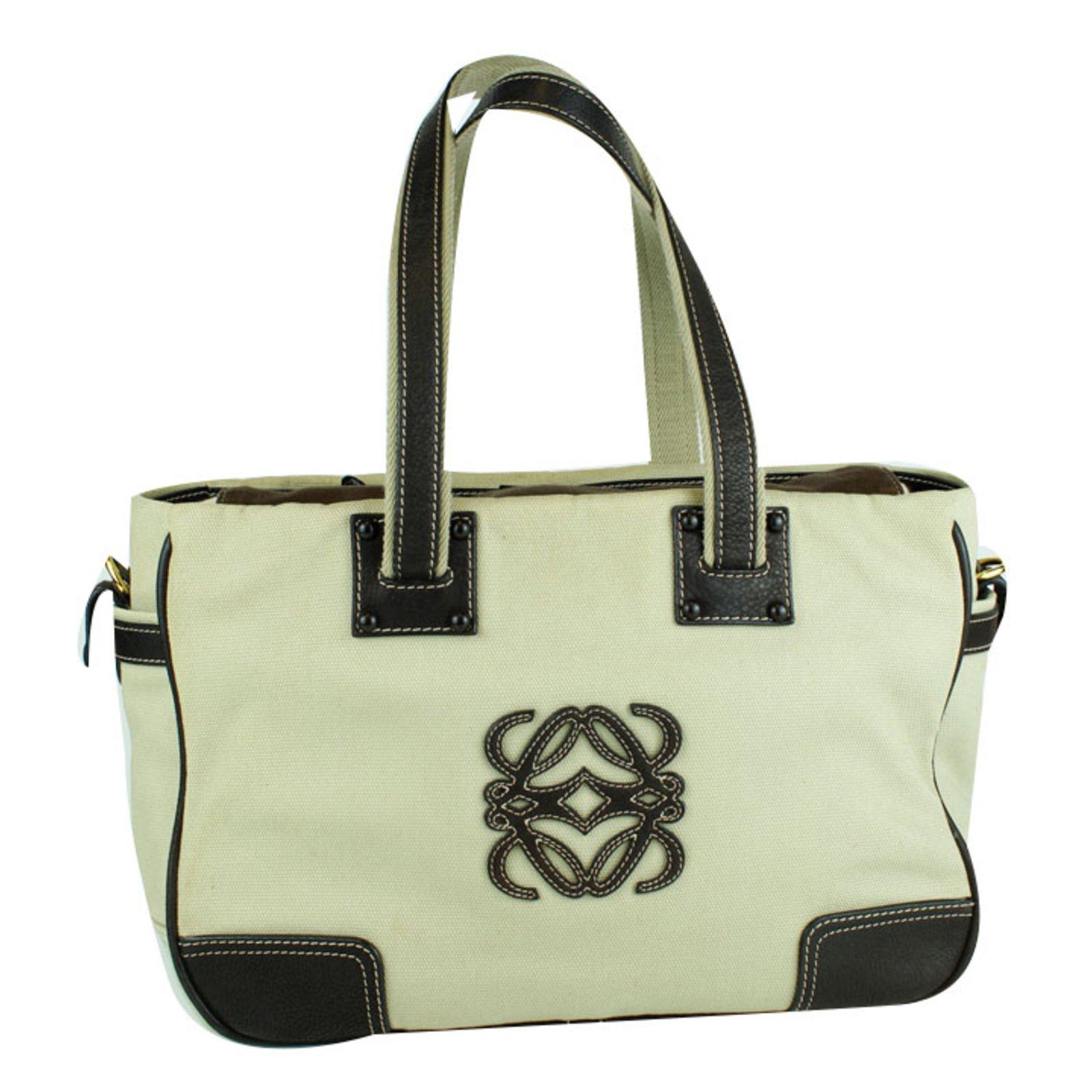 Loewe Handbags Cloth Beige Ref 53014