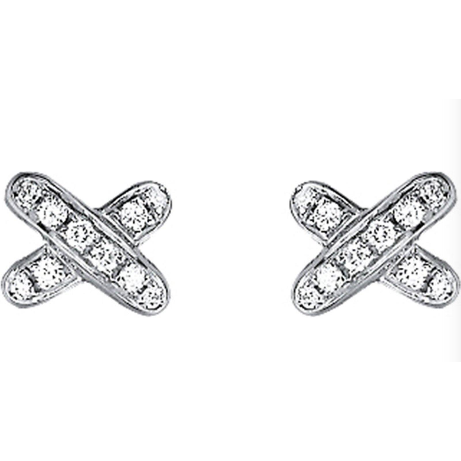 Chaumet Liens Croisés Earrings White Gold Silvery Ref 53039