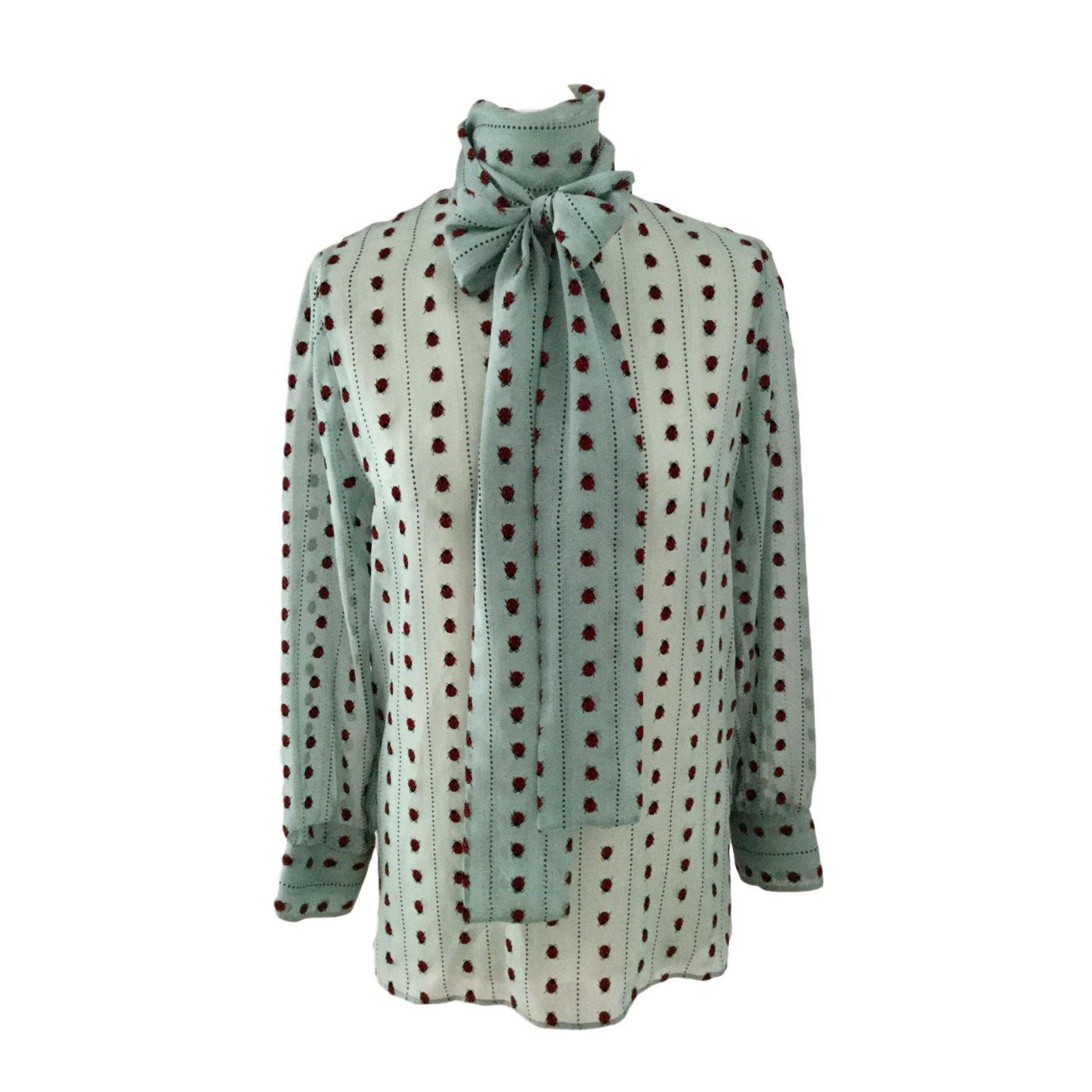 16fa1ca44 Gucci Blouse Tops Silk Green ref.53085 - Joli Closet