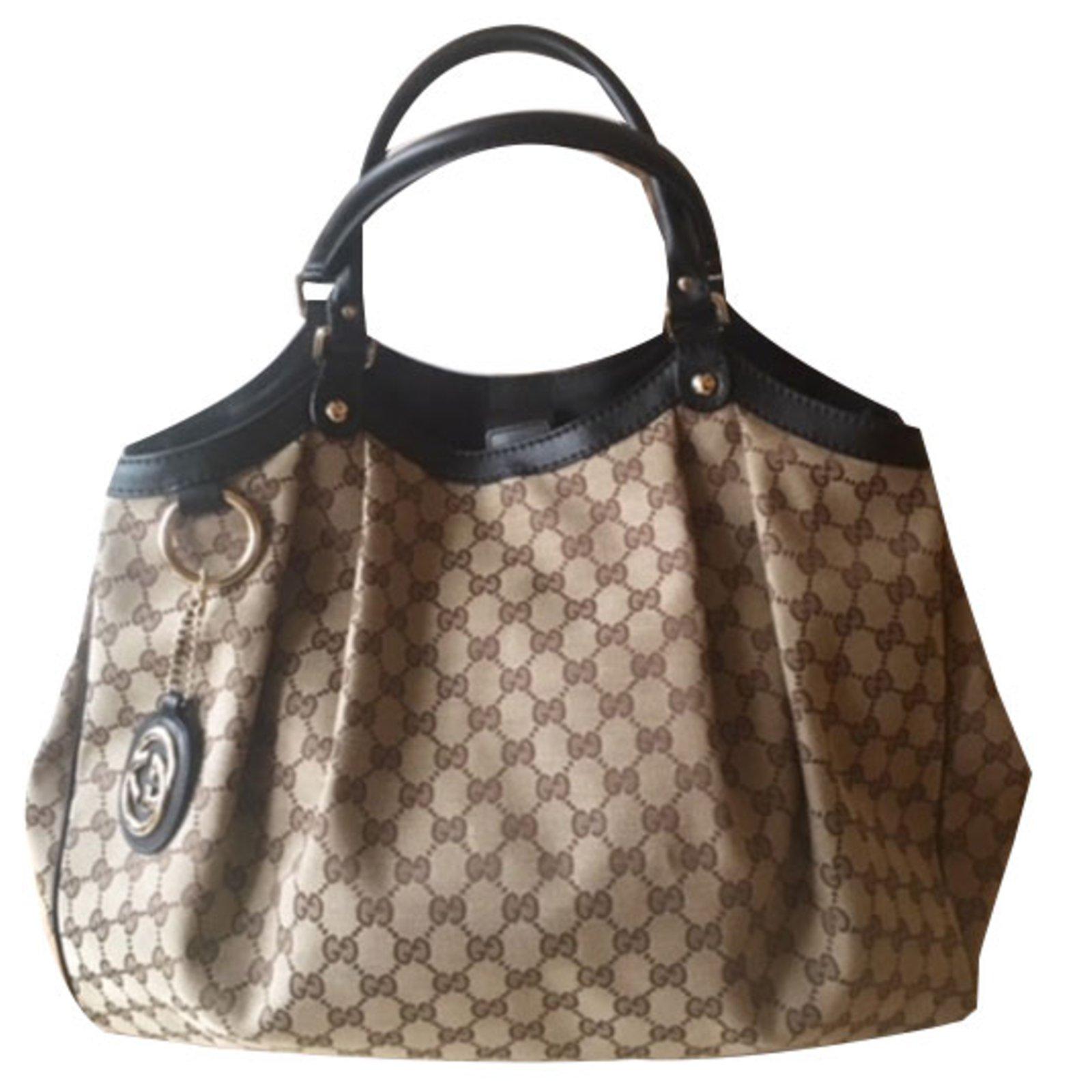 4b7ea948c95 Gucci SUKEY Handbag Handbags Cloth Beige ref.53122 - Joli Closet