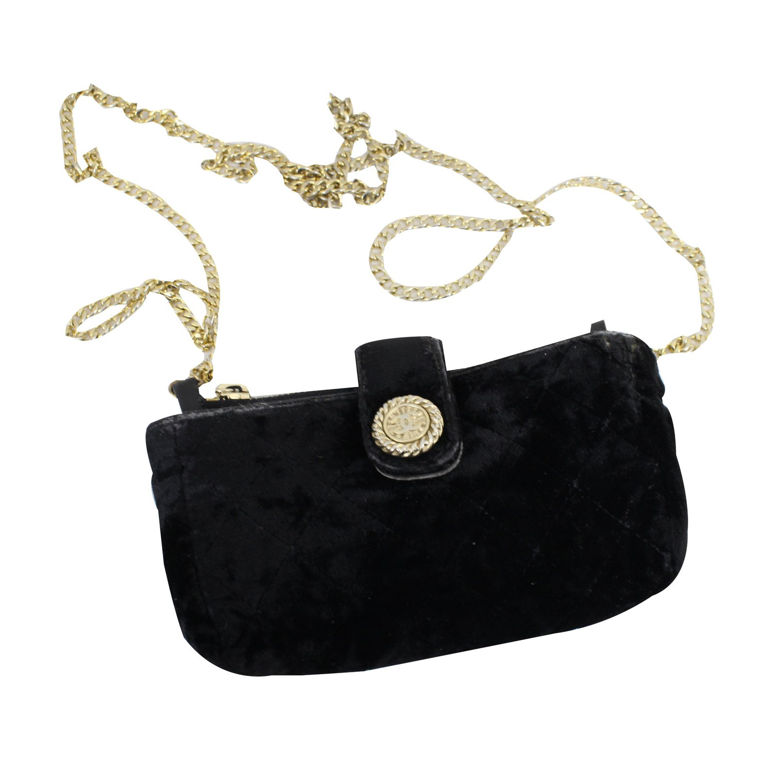 912c3f892513 Chanel Handbags Handbags Velvet Black ref.53140 - Joli Closet