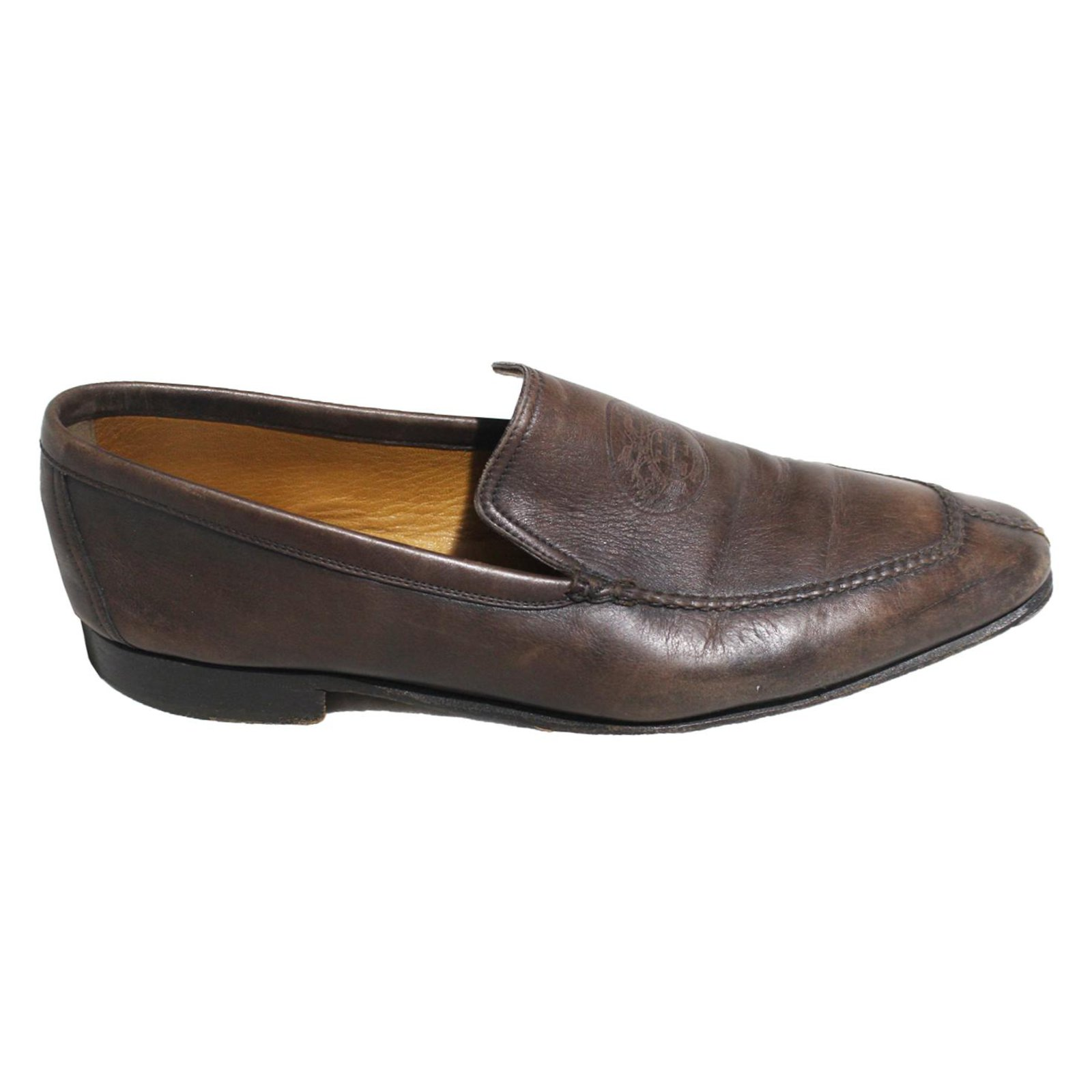 Hermès Loafers Slip ons Loafers Slip ons Leather Brown ref.53162