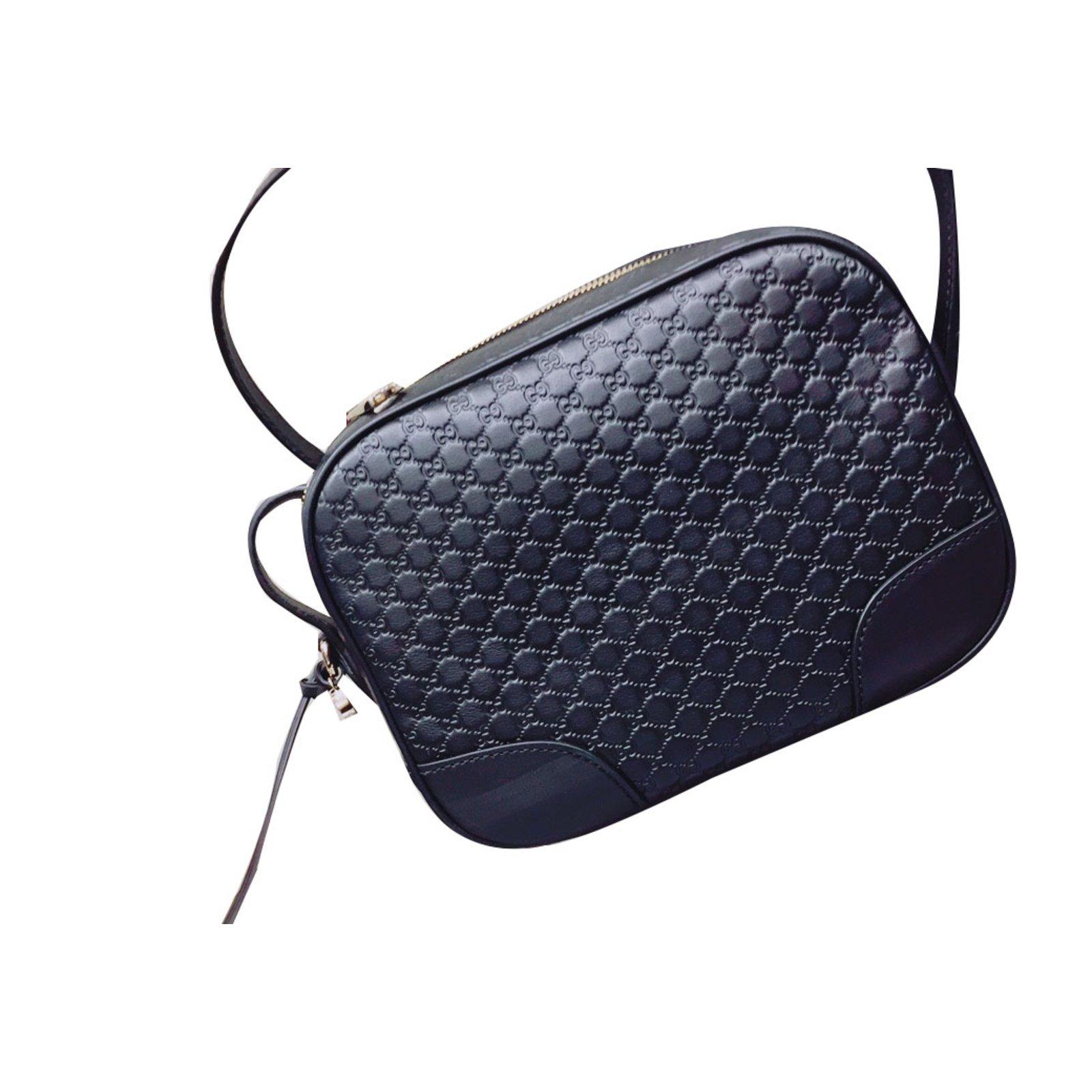 Gucci Camera Bag Clutch Bags Leather Black Ref 53172