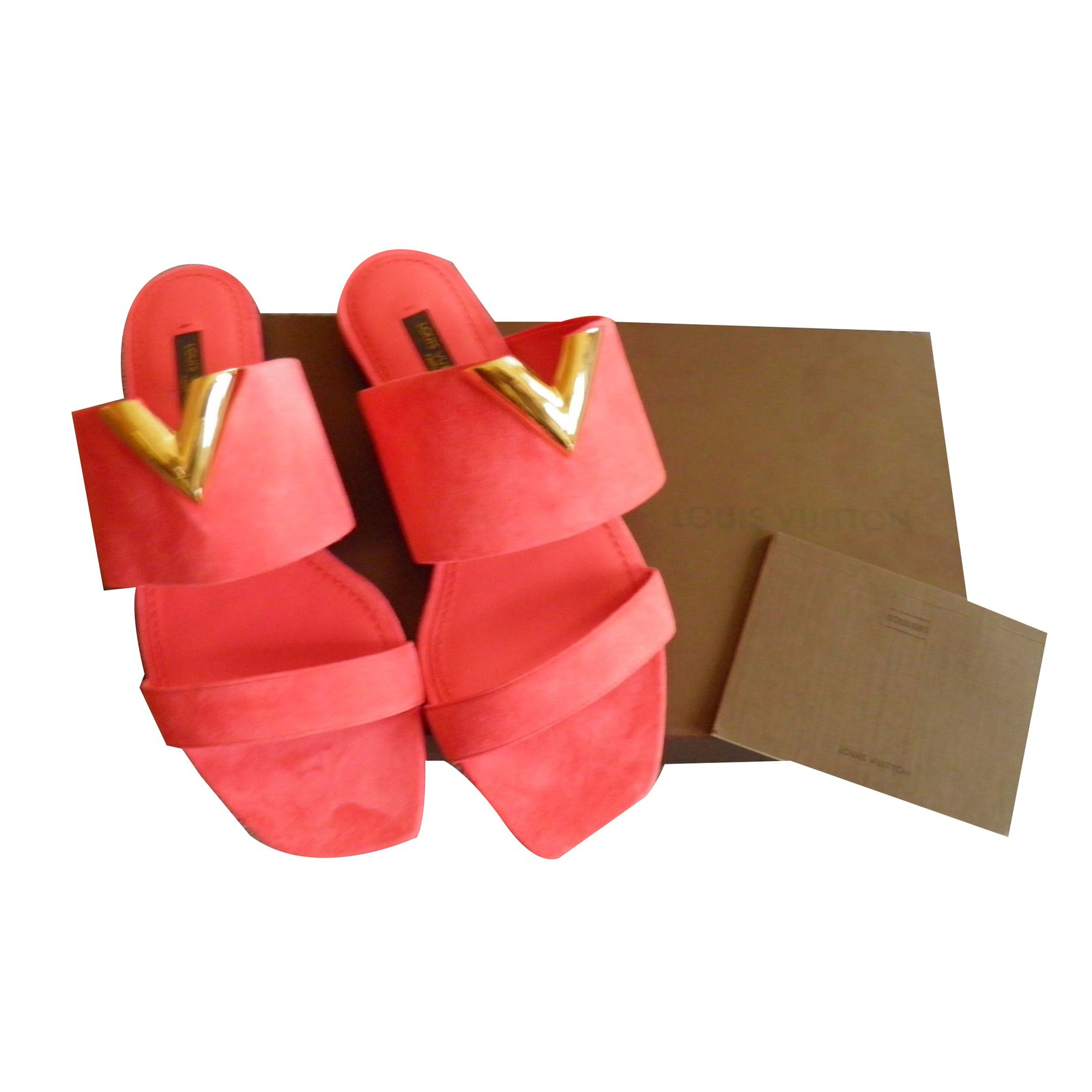 4c2dac78d39d Louis Vuitton new wave Sandals Suede Pink ref.53398 - Joli Closet