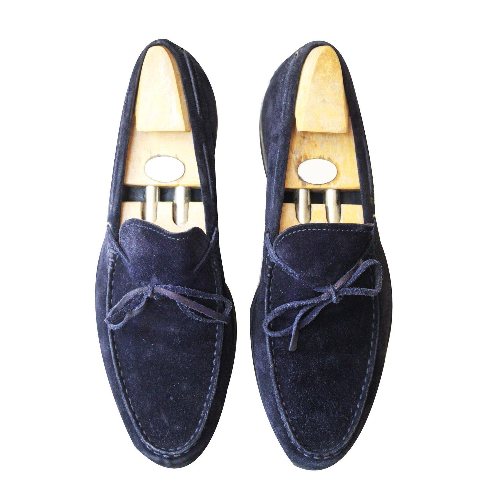 38eebb735ae Tod s Loafers Slip ons Loafers Slip ons Suede Navy blue ref.53635 ...