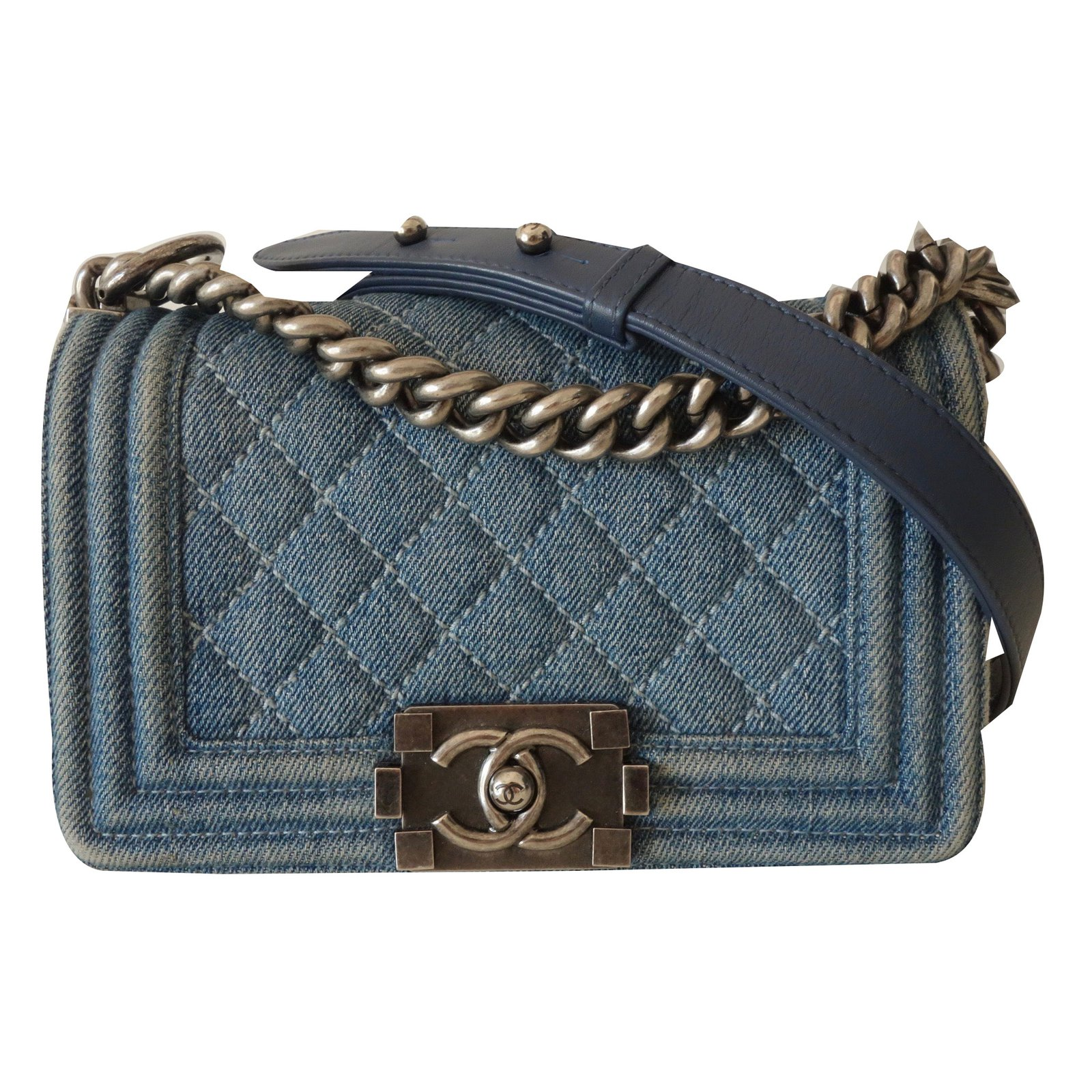 Chanel Blue Jean Boy Bag Handbags Denim Ref 53743