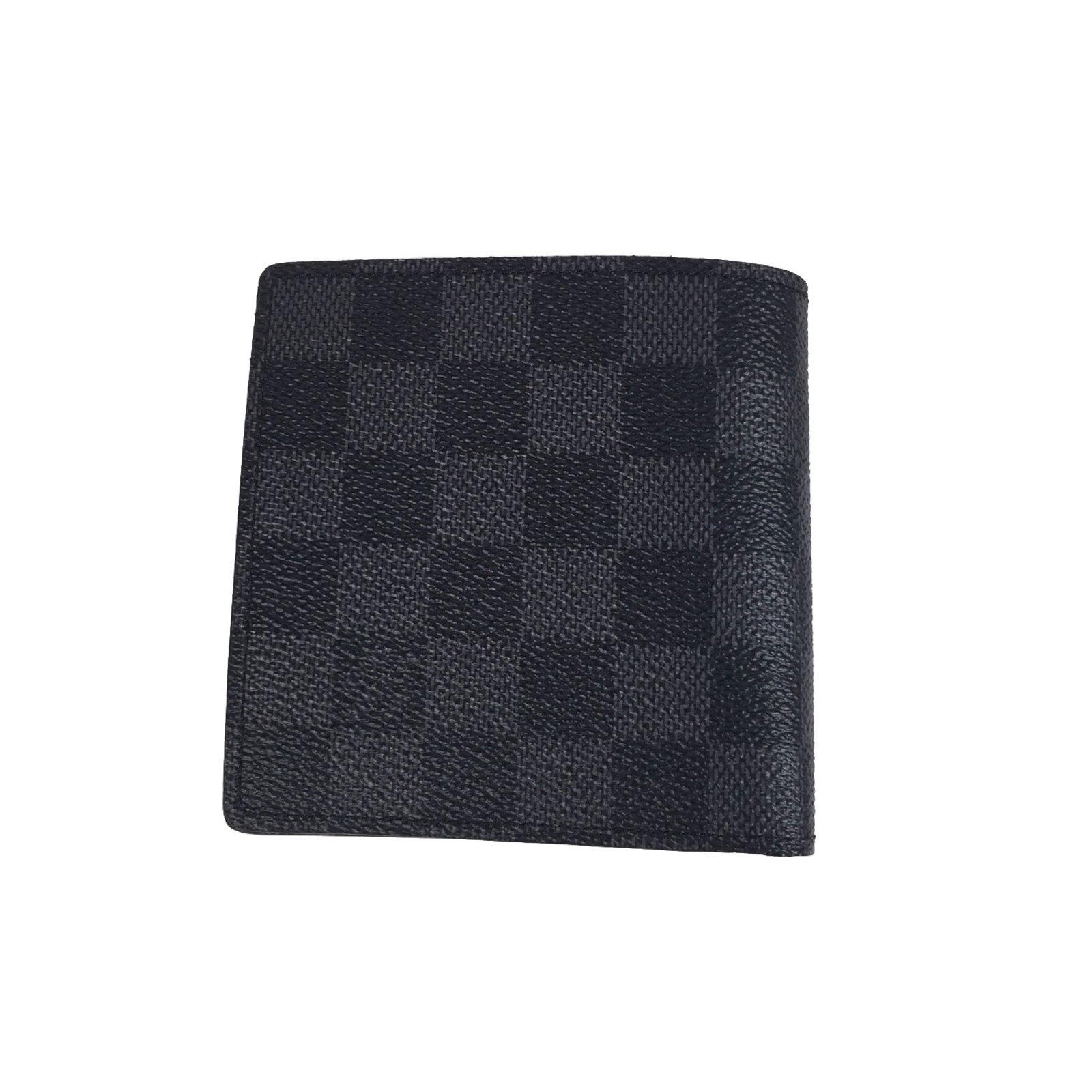 89acf9bc961c Petite maroquinerie homme Louis Vuitton Marco Toile Gris ref.53816 ...