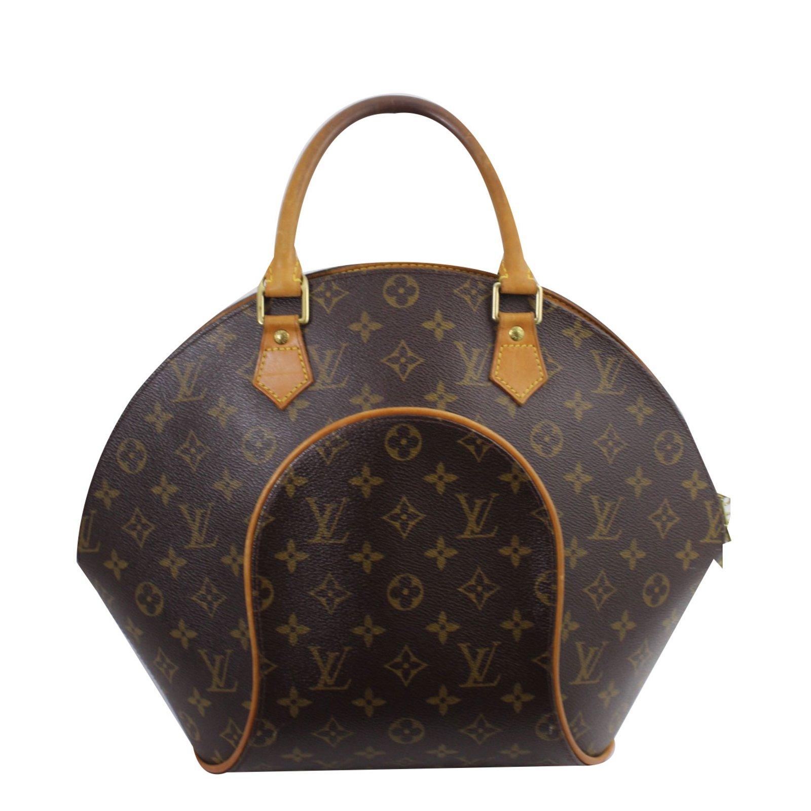 Louis Vuitton Ellipse Gm Handbags Leather Brown Ref 53856