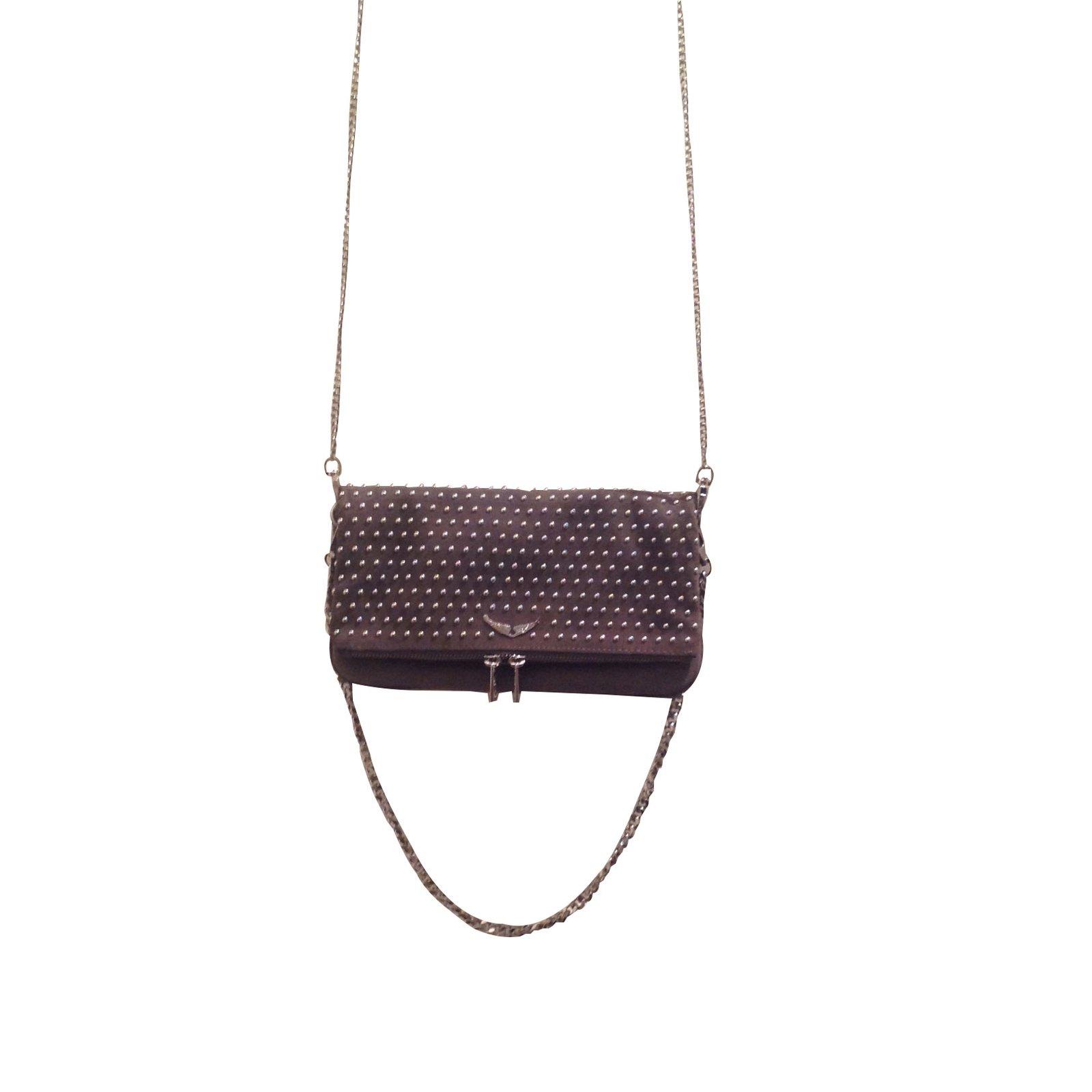 8b797e5f3e6 Zadig   Voltaire Clutch bags Clutch bags Leather Black ref.53897 ...