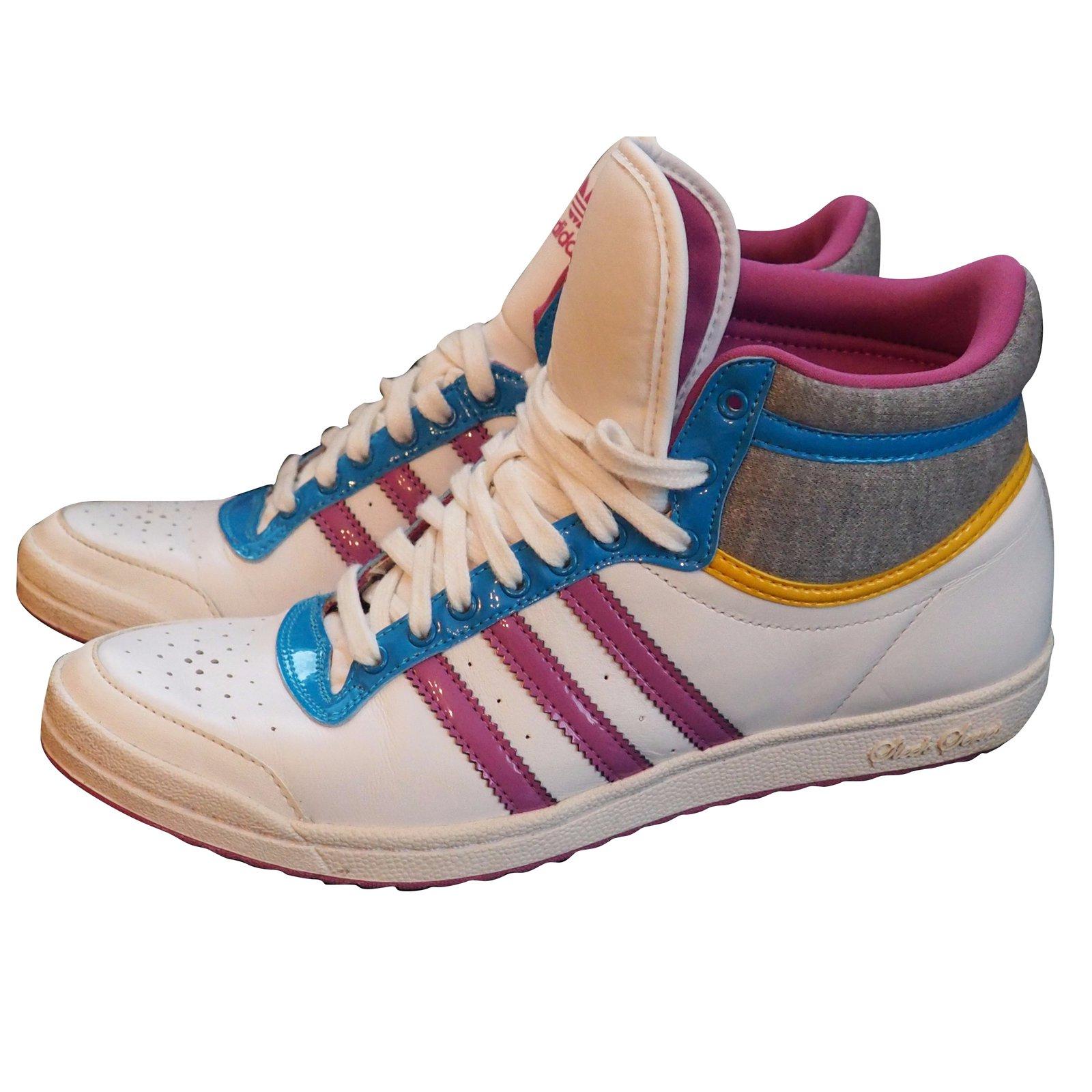 874d96f42 Adidas Sleek Series Sneakers Sneakers Leather White ref.54007 - Joli ...