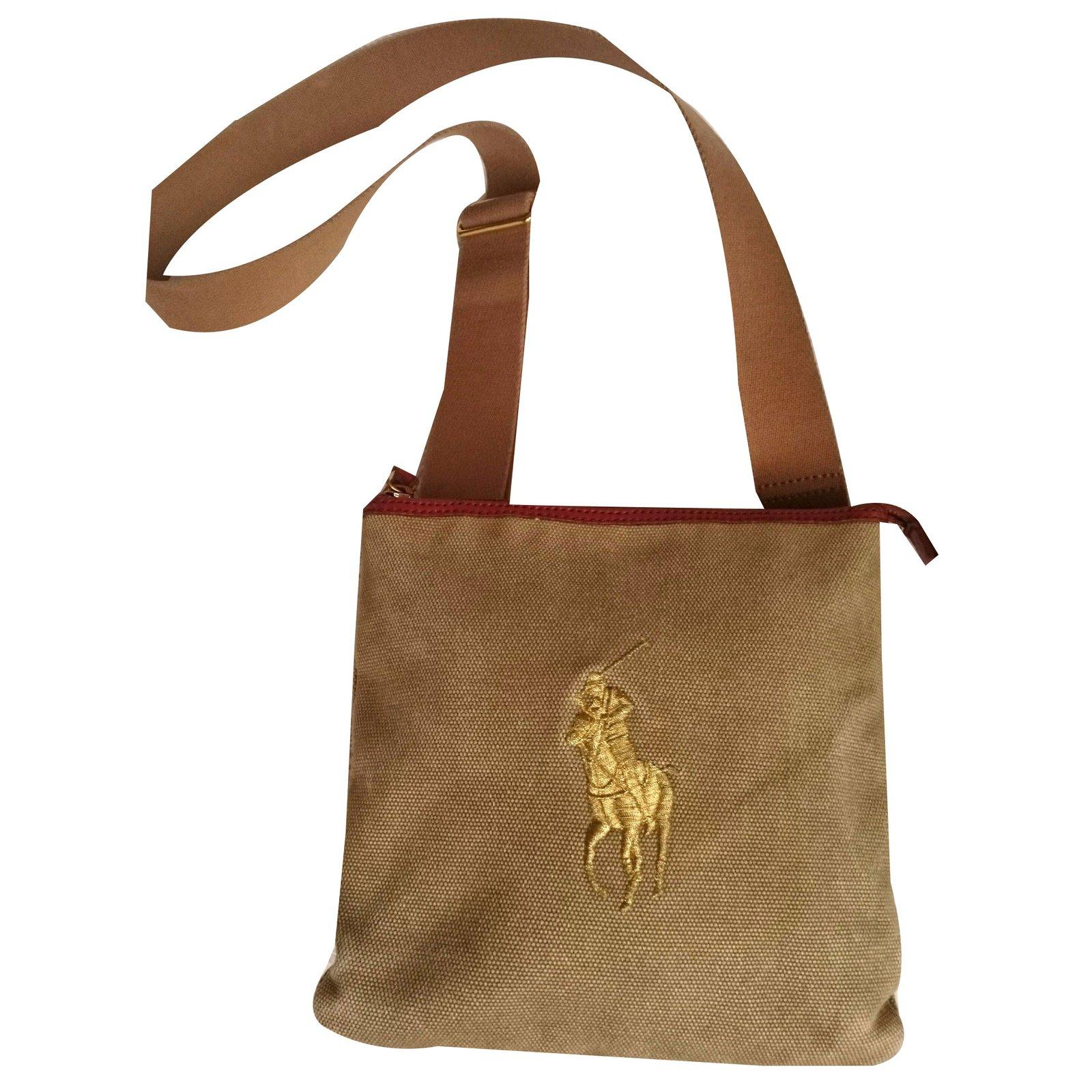 eee068e25b9a ... coupon for ralph lauren ralph lauren bag handbags leathercloth  beigekhaki ref.54103 c4af1 f80bc ...