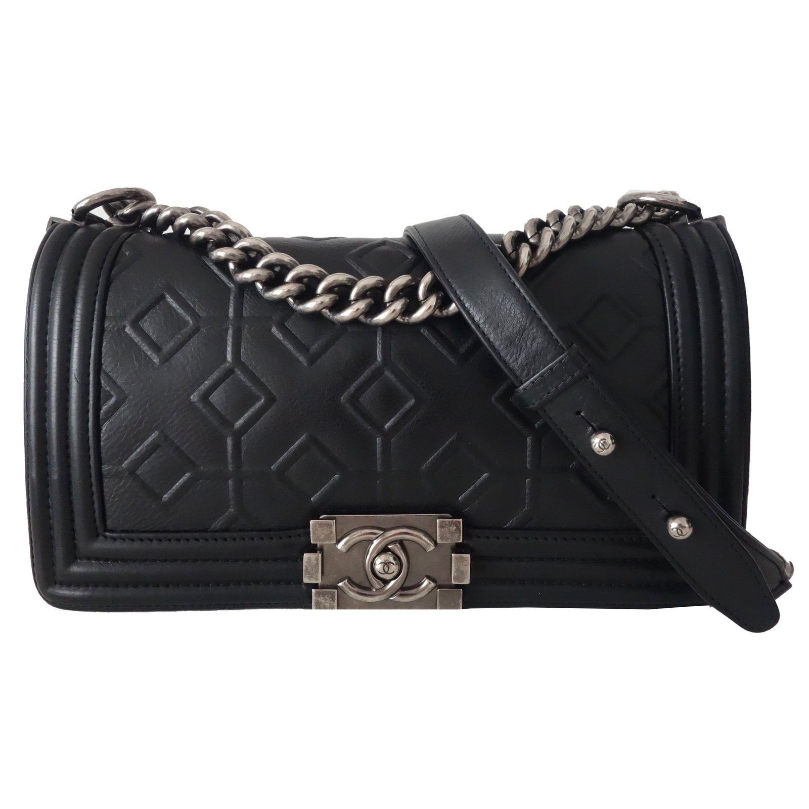 06045632bdc6 Chanel Boy Bag Handbags Leather Black ref.54245 - Joli Closet