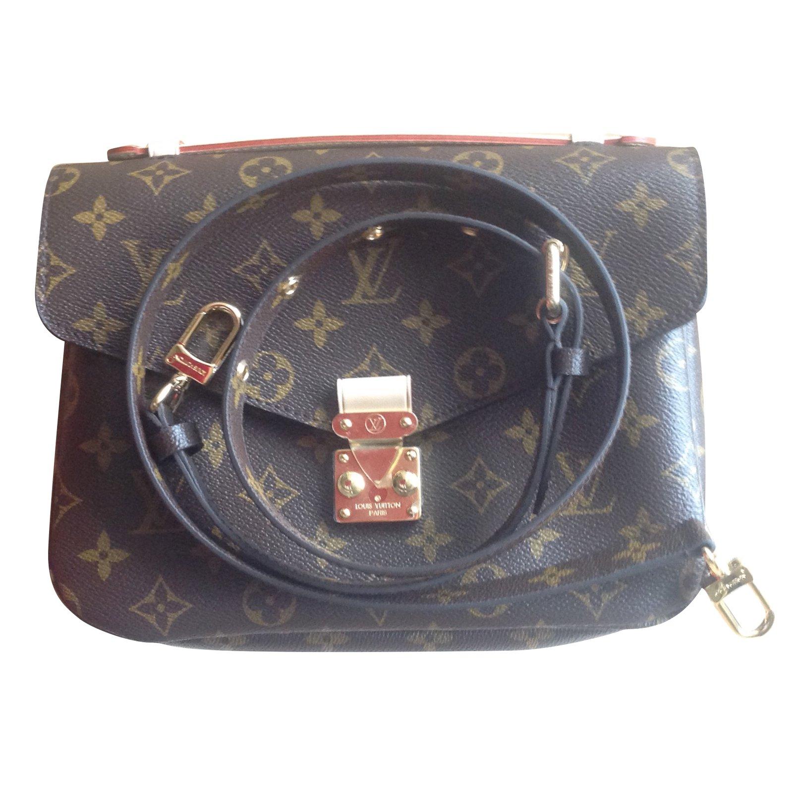 Louis Vuitton Pochette Metis Handbags Patent Leather Brown Ref 54515