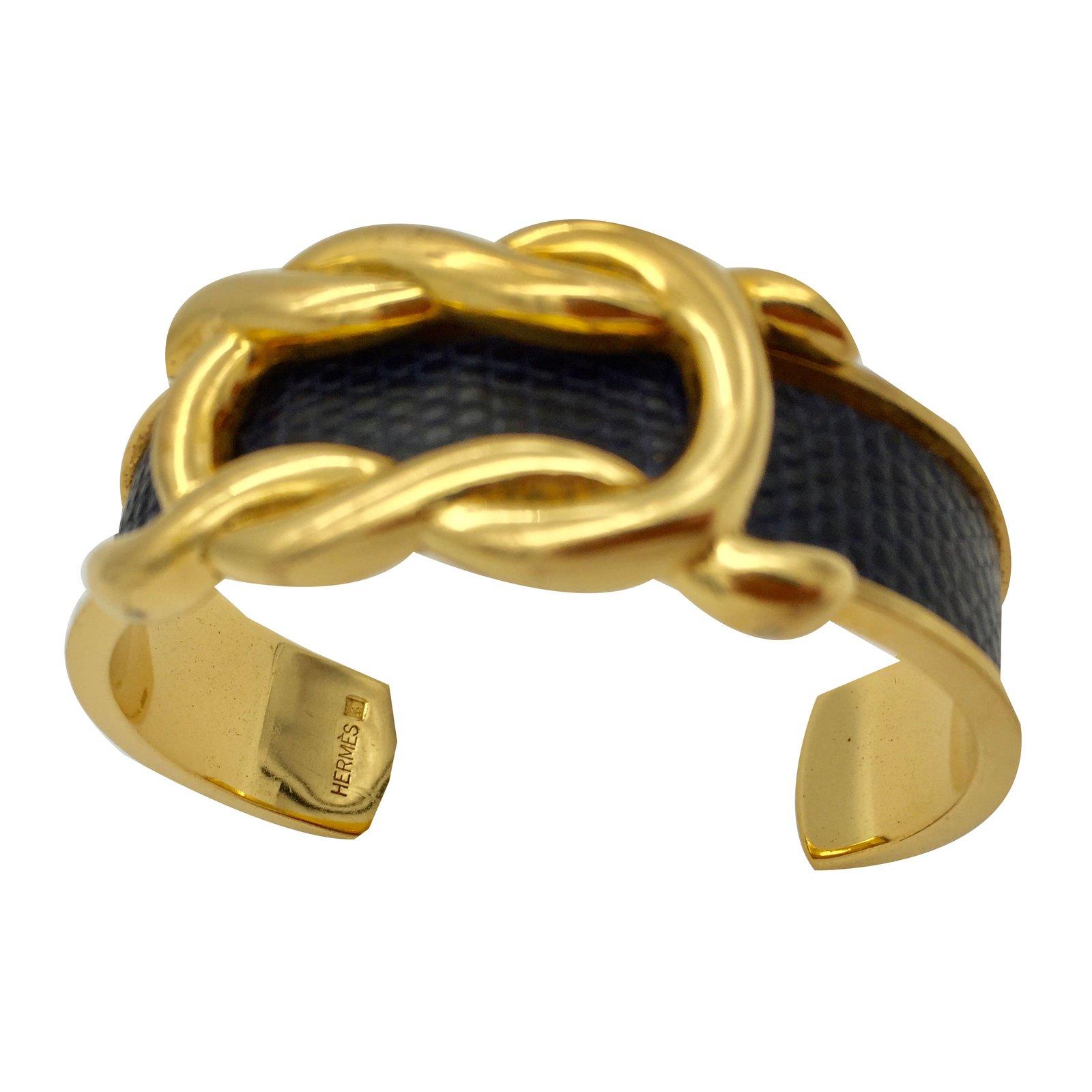 710bb64ea4e1 Bracelets Hermès Bracelet demi-jonc Hermès Autre Doré ref.54885 ...