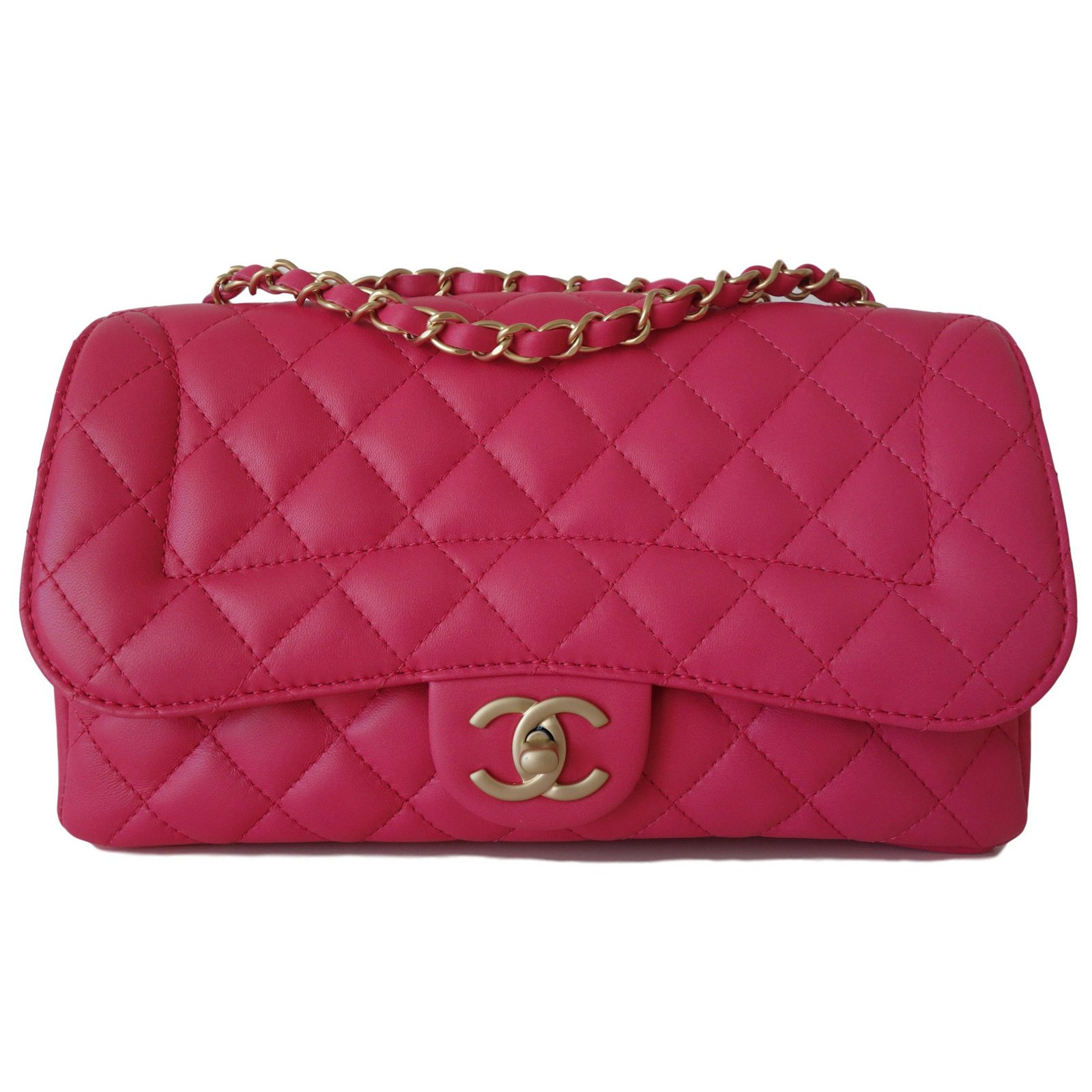 Chanel Timeless 2017 Handbags Leather Pink Ref 54966