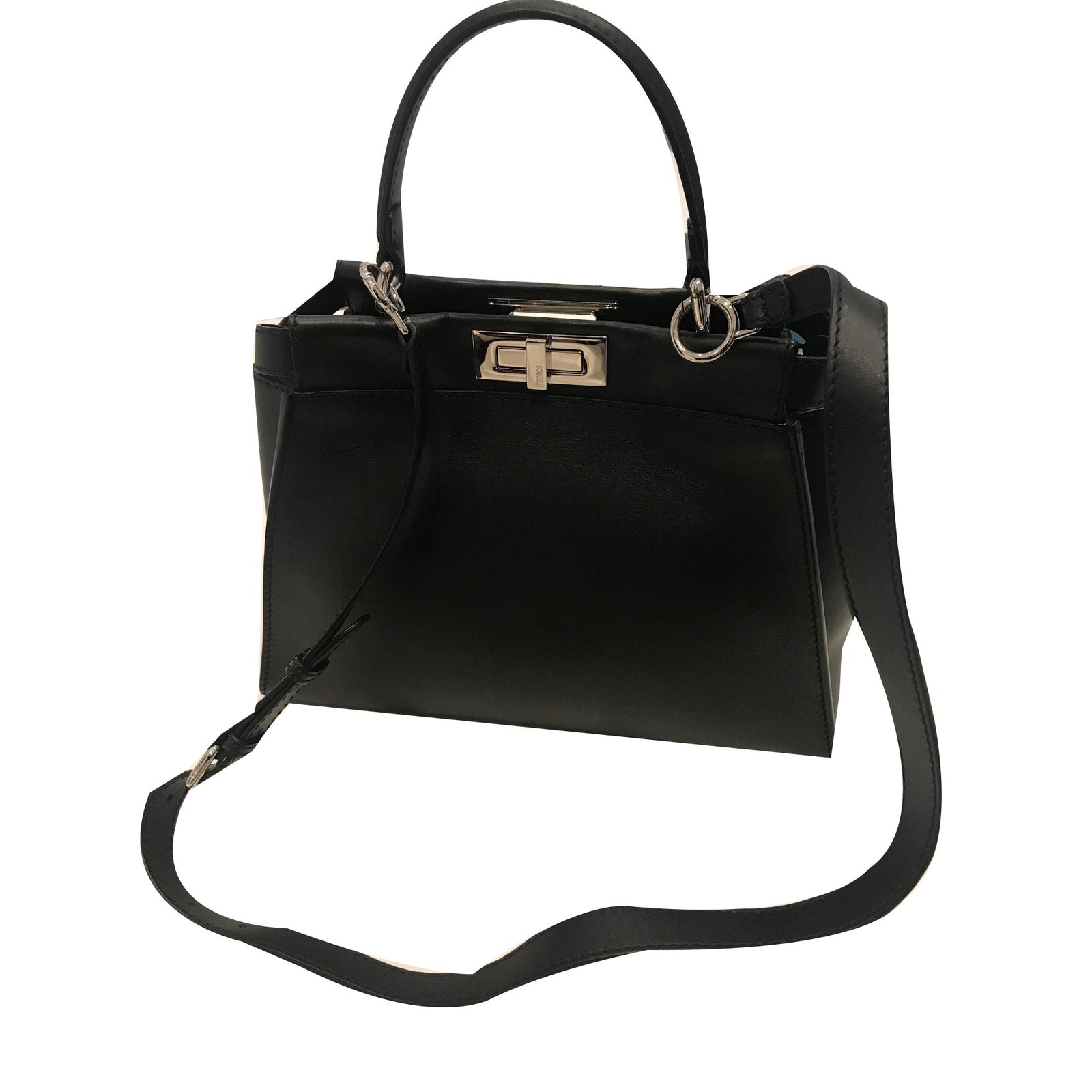 Fendi Peekaboo Handbags Leather Black ref.54969 - Joli Closet 1d2ea6795f1a6