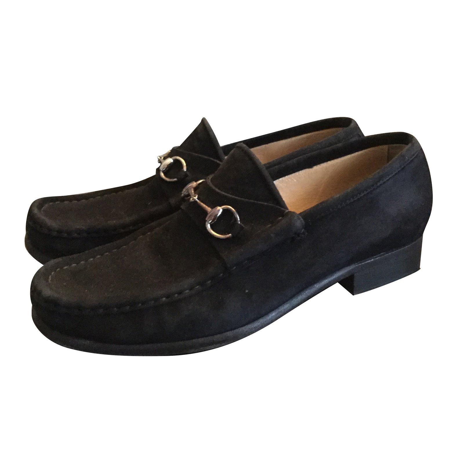 Gucci Gucci loafers Flats Suede Black ref.55052 - Joli Closet 03a9d181b675
