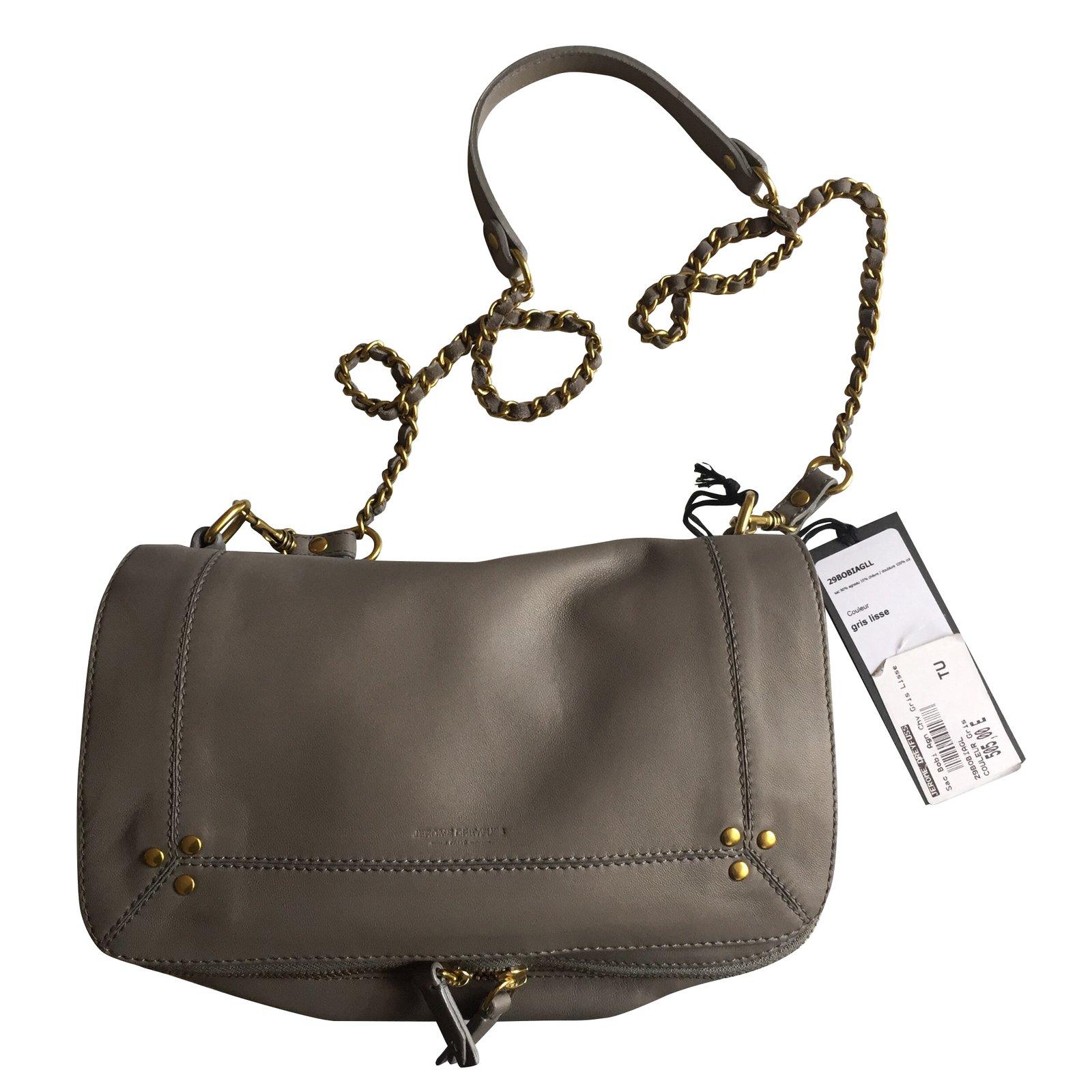 Jerome Dreyfuss Bobi Bag Handbags Leather Grey Ref 55059