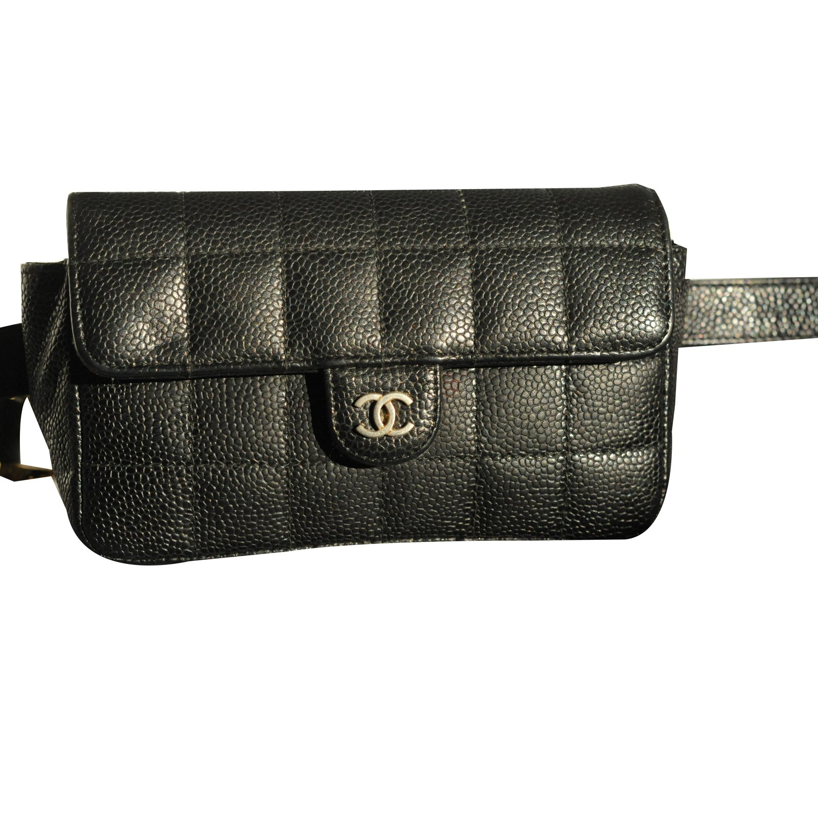 62840842c741 Chanel Uniform belt bag Clutch bags Leather Black ref.55355 - Joli ...