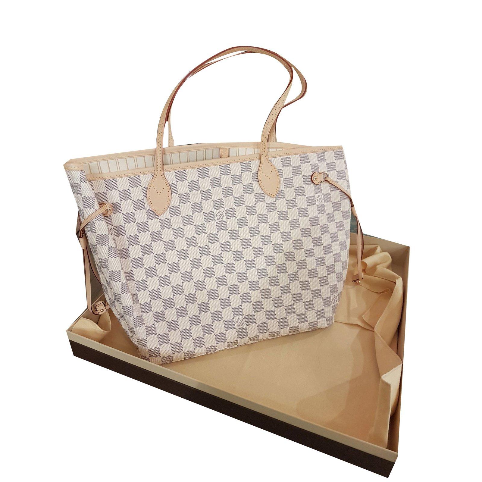 louis vuitton louis vuitton neverful handbags leather