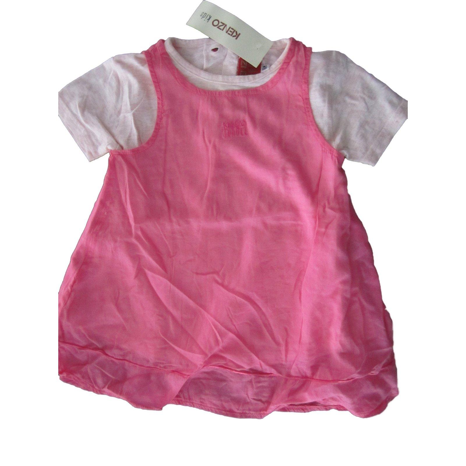 Kenzo Dresses Dresses Cotton Pink ref Joli Closet