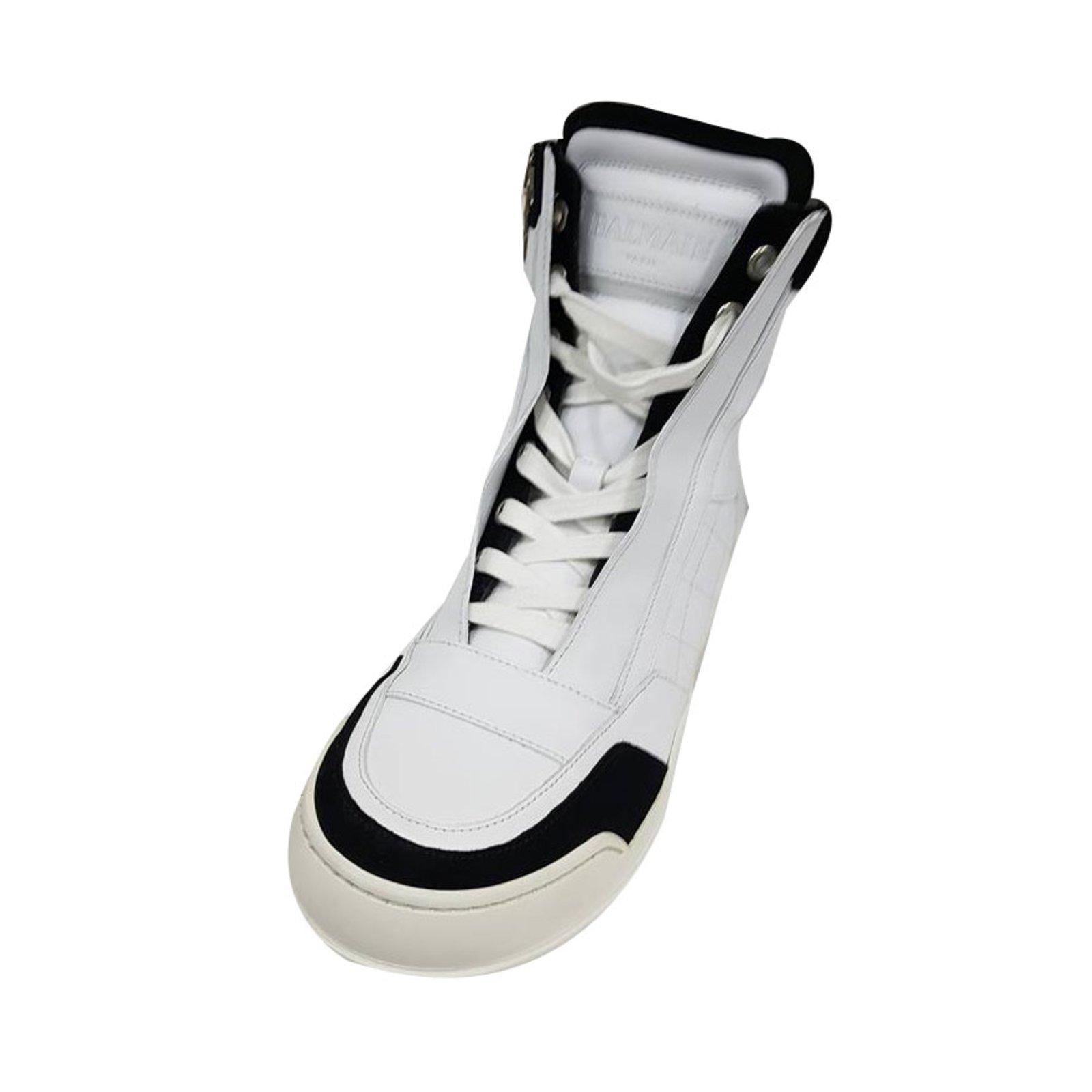 be8cb32aa7d4e Bottes, boots Balmain Bottes, boots Cuir Blanc ref.55708 - Joli Closet