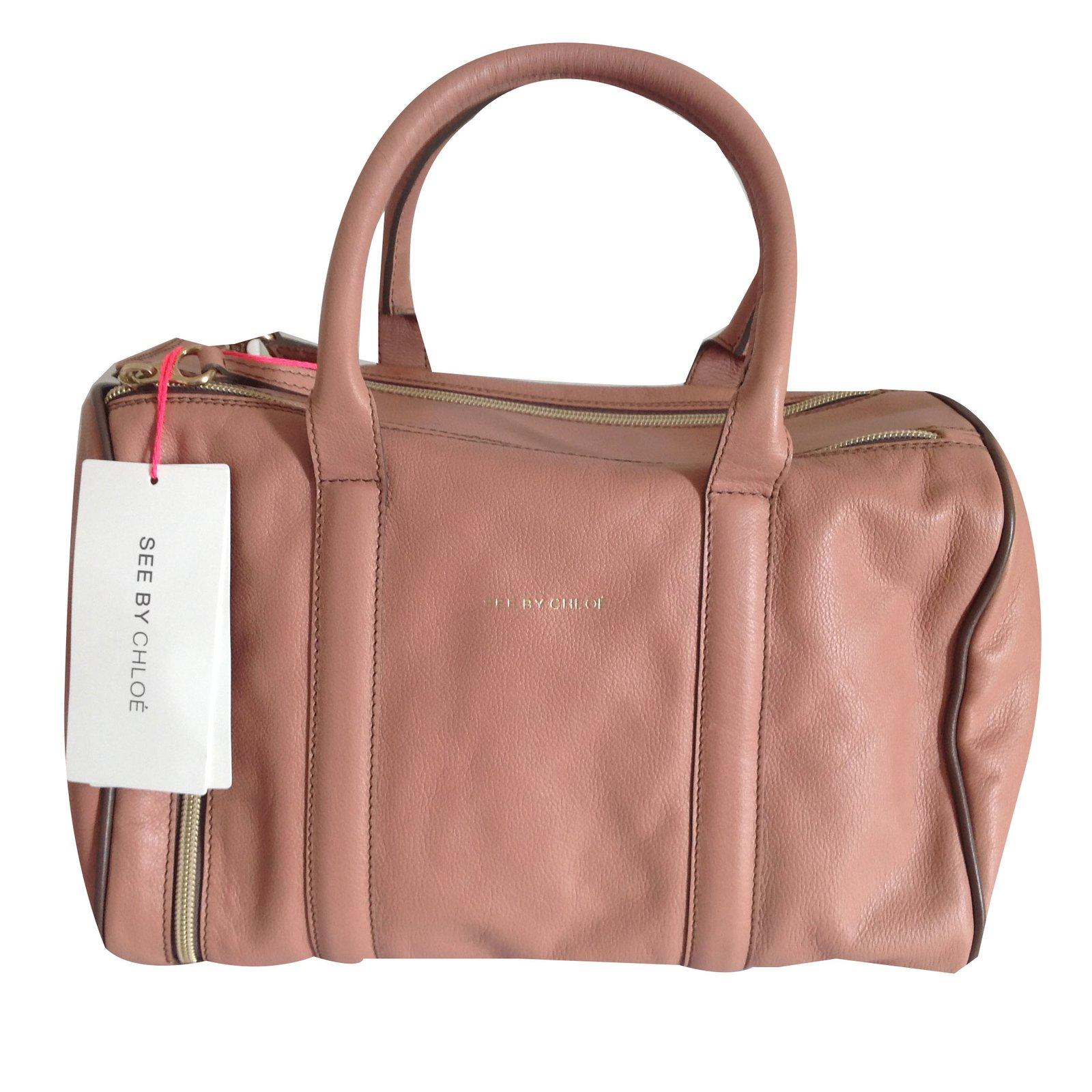 See by Chloé Handbags Handbags Leather Pink ref.55714 - Joli Closet 53256b205f84