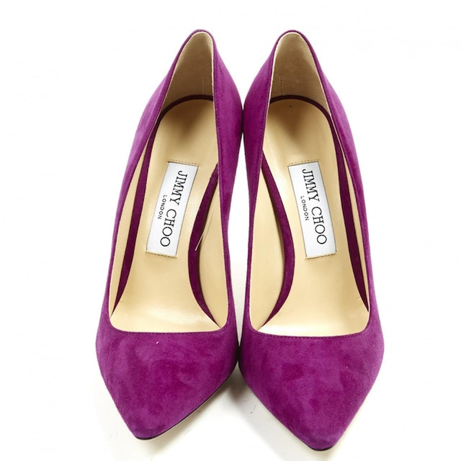 Jimmy Choo Heels Heels Deerskin Purple