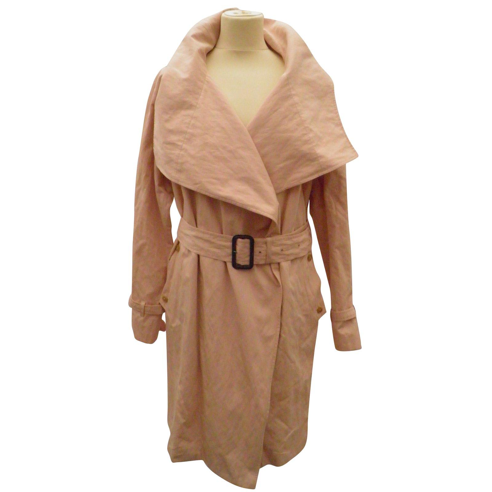 Manteaux Aquascutum Trench coat Coton Rose ref.55787 Joli