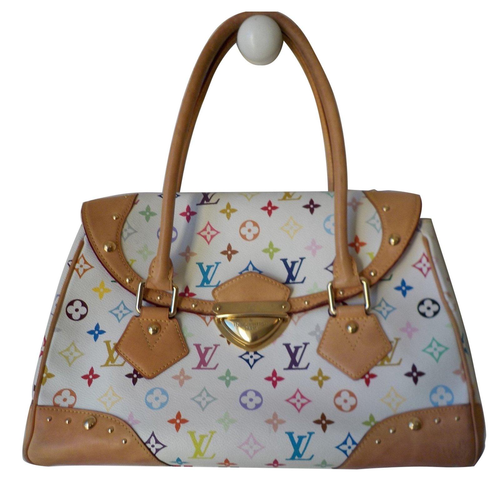 louis vuitton handbags handbags leathercloth white ref