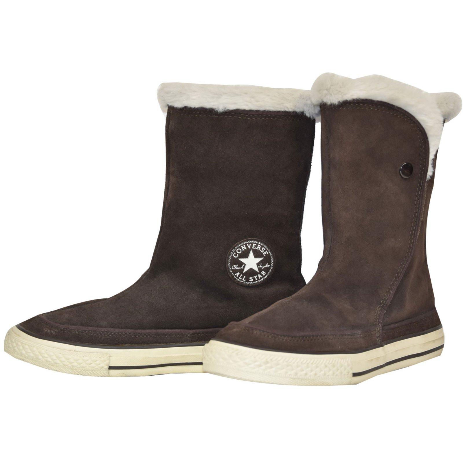 converse fur boots