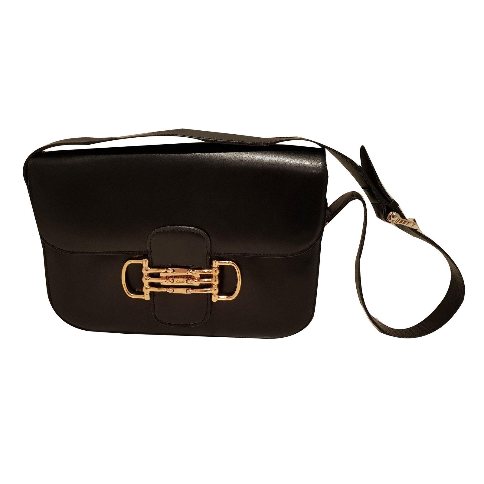 sacs main c line sacs main cuir noir joli closet. Black Bedroom Furniture Sets. Home Design Ideas
