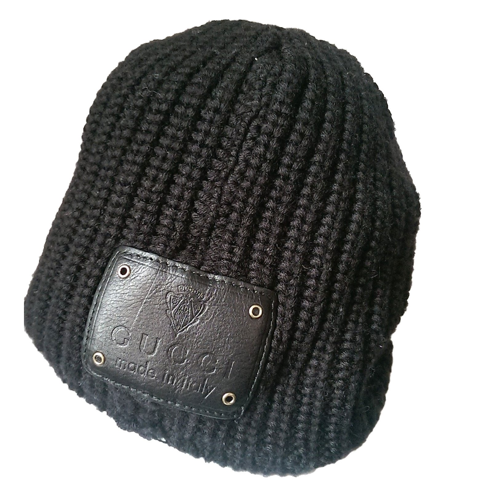b4b9090d30dab Chapeaux Gucci Bonnet casquette Laine Noir ref.56191 - Joli Closet