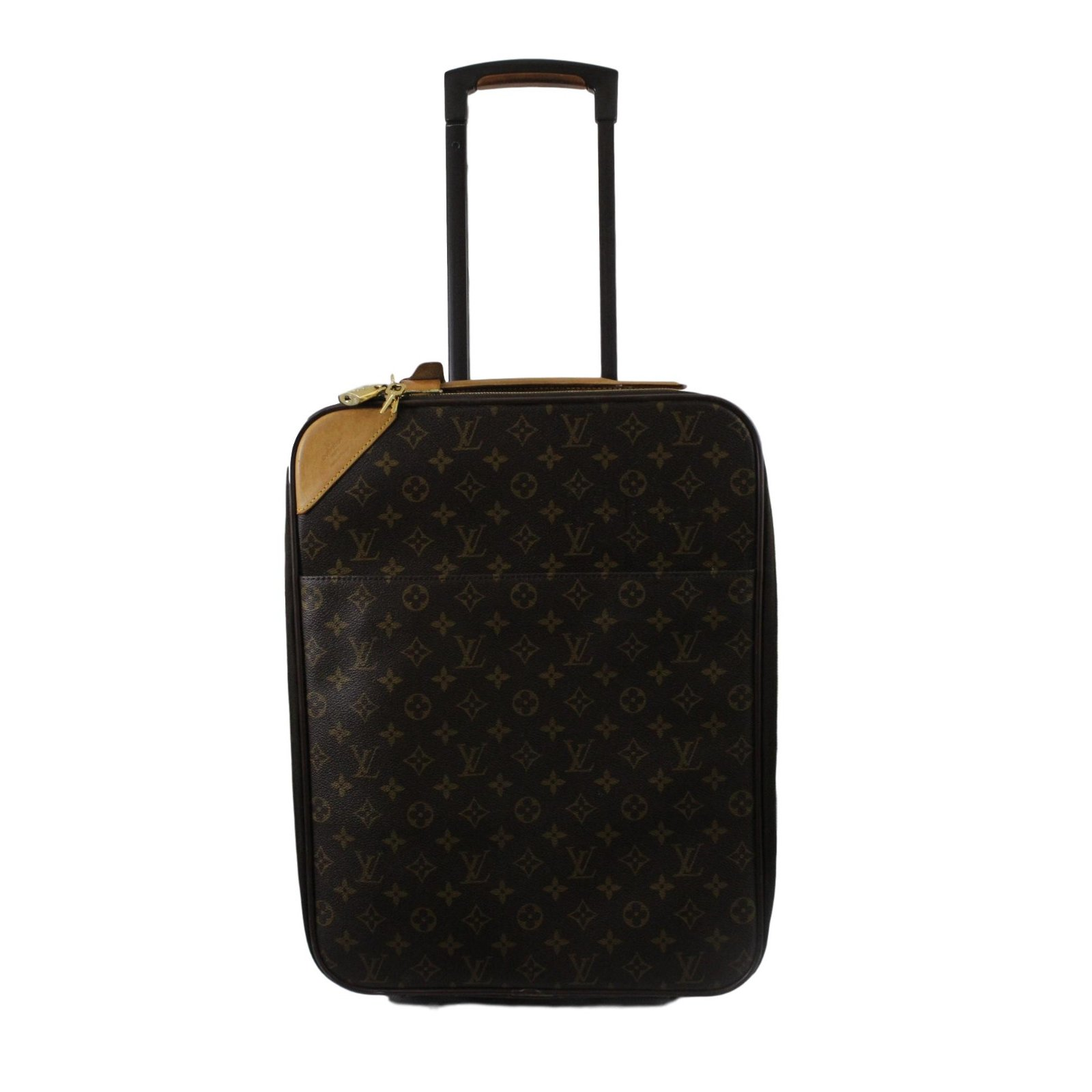 Louis Vuitton Travel Bag Leather Brown Ref 56477