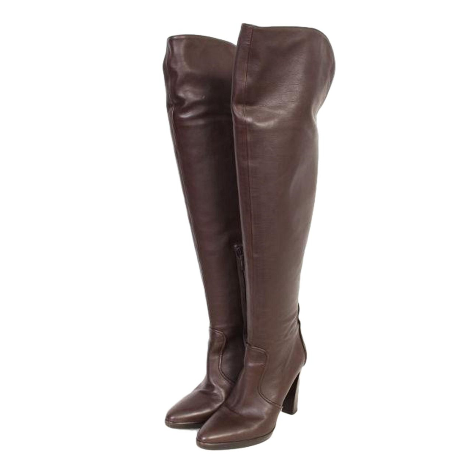 Hermès Knee-High Leather Boots clearance limited edition cheap best prices 6IYTUEl