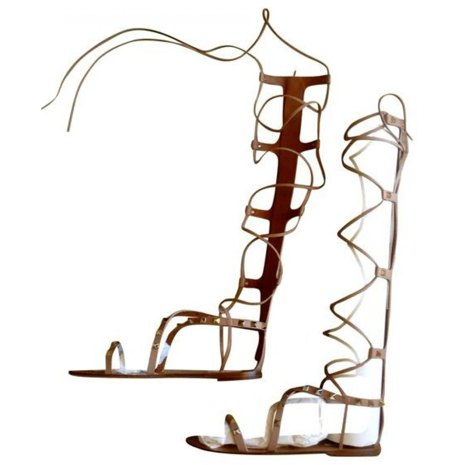 40e3ad2a0ad Valentino Sandals Sandals Leather Beige ref.56726 - Joli Closet