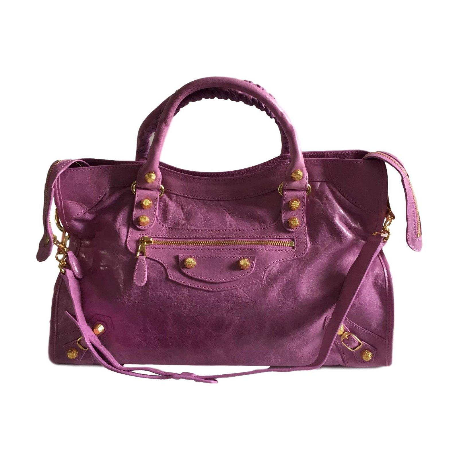 4059886450a8 Balenciaga City giant 12 gold Handbags Leather Pink ref.56752 - Joli ...