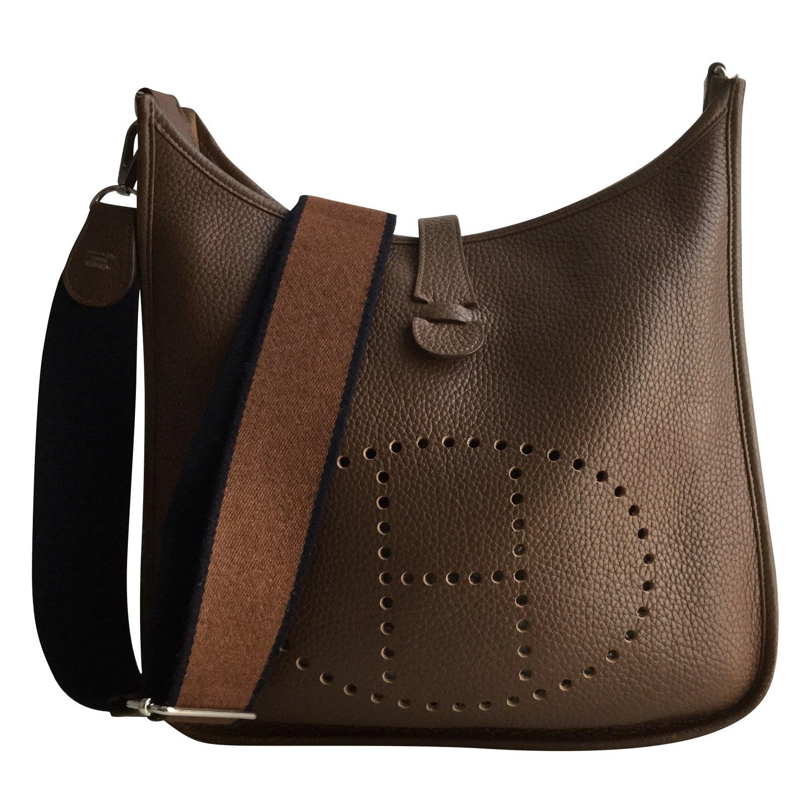 54c166ea339e Hermès Evelyne III Handbags Leather Brown ref.56828 - Joli Closet