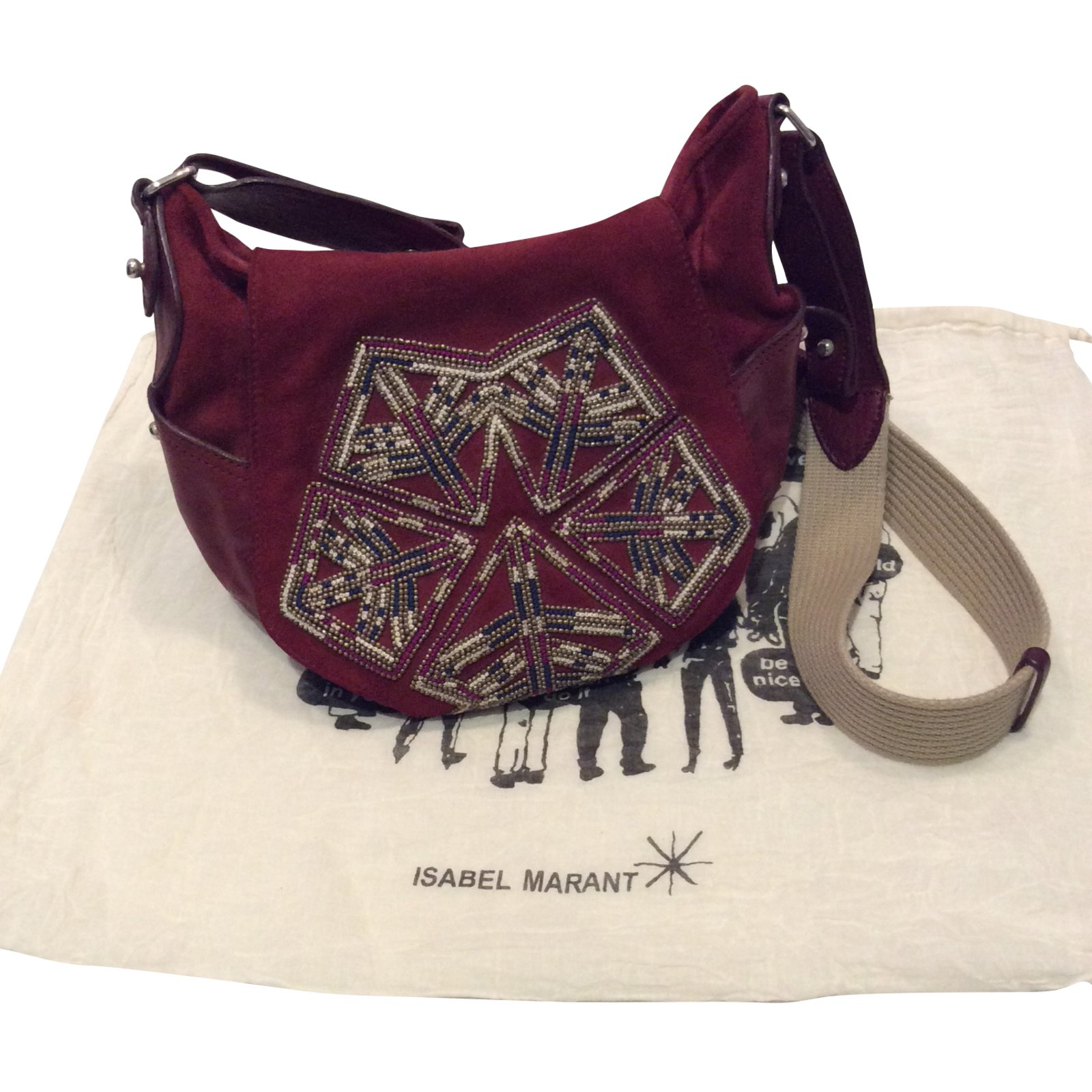 Isabel Marant Handbags Deerskin Dark Red Ref 56861