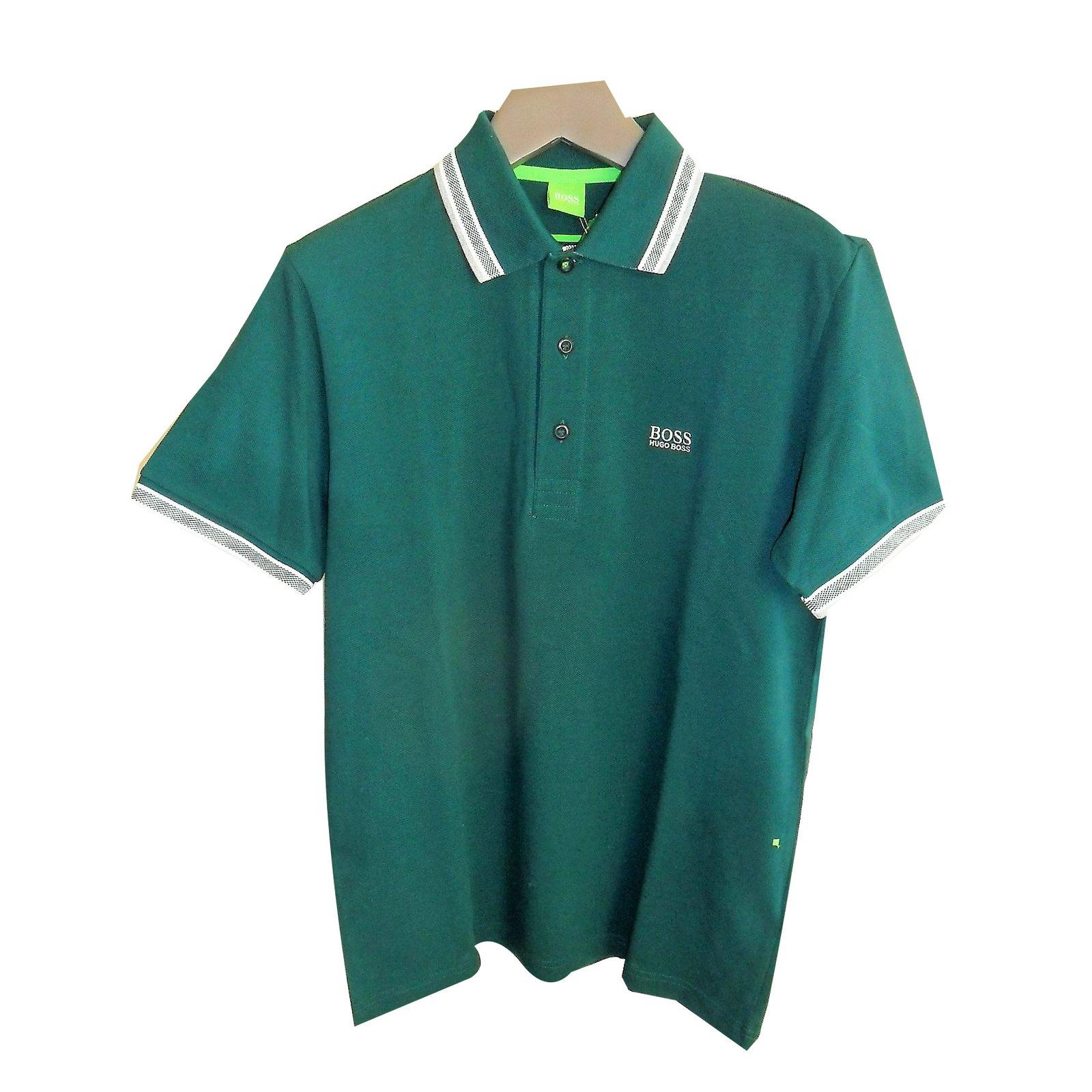 dbf4dd156 Hugo Boss Hugo boss brand new men's green polo shirt Polos Cotton Green  ref.57068