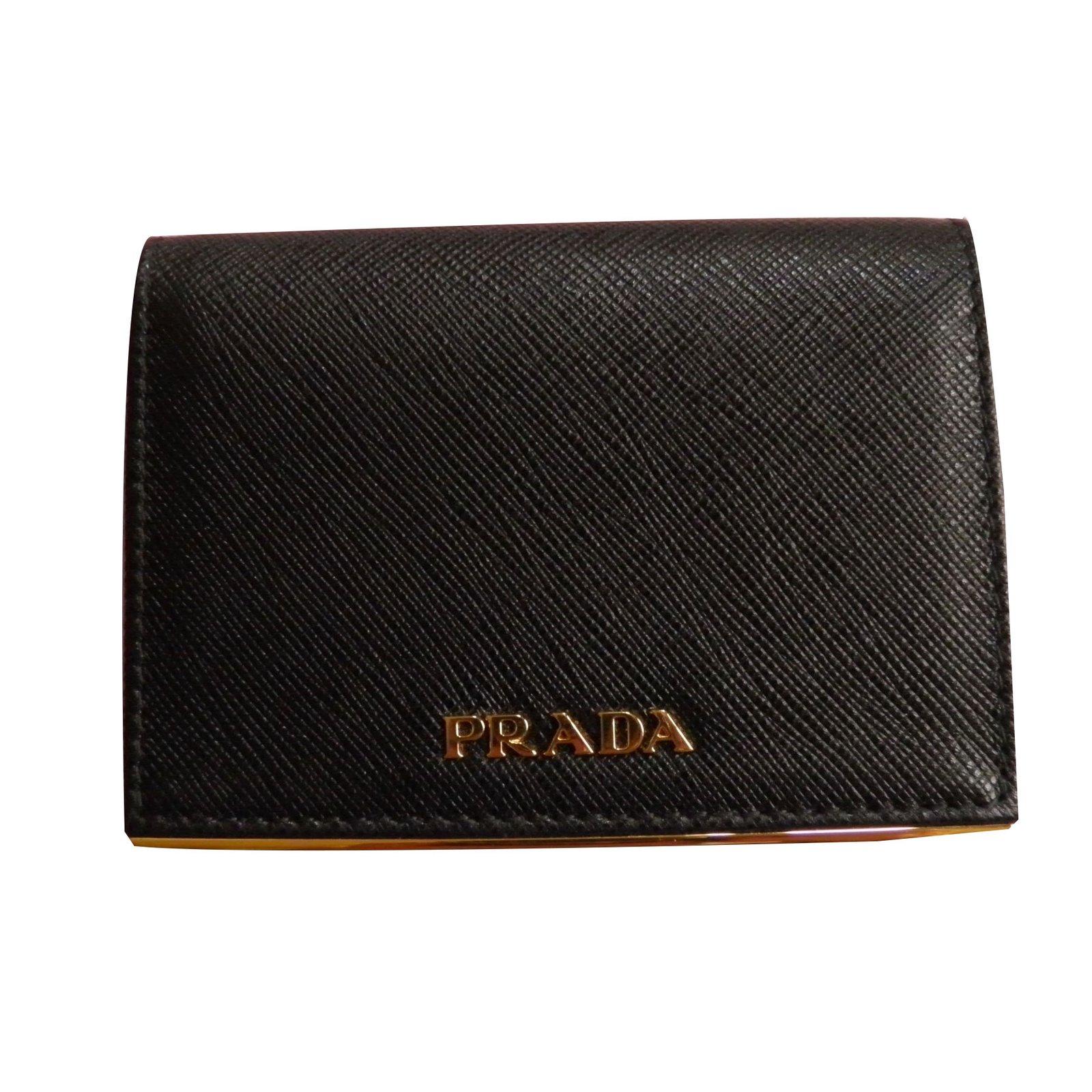 0bcc2256850016 usa prada card holder purses wallets cases leather black ref.57091 19bc9  26c3f