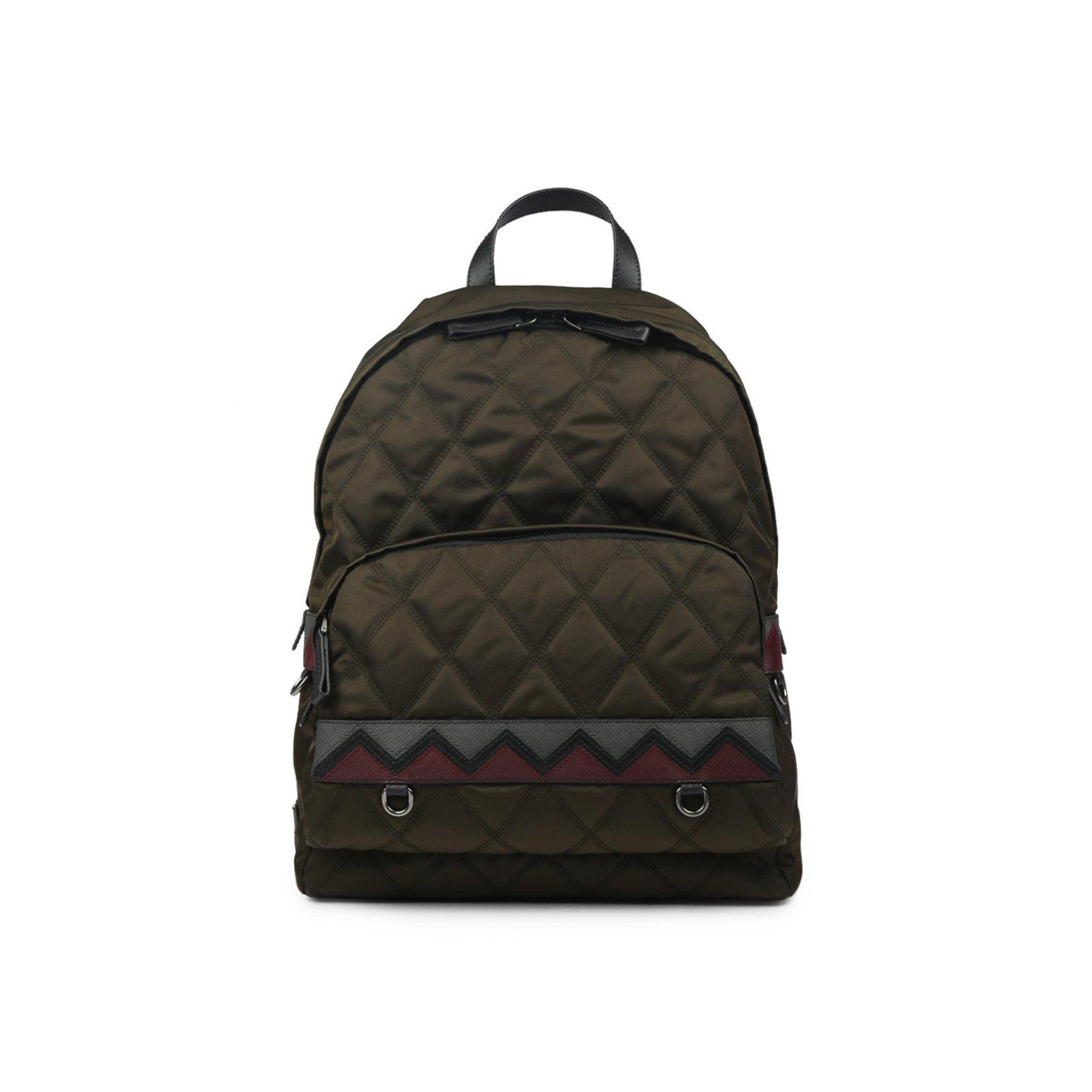 58d6a47e3f ... france prada prada backpack new bags briefcases nylon green ref.57119  f2058 da5fe