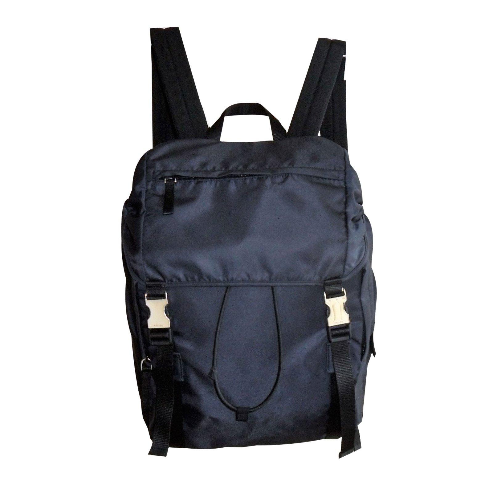 6a40586f43bae9 Prada Black Nylon Backpack- Fenix Toulouse Handball